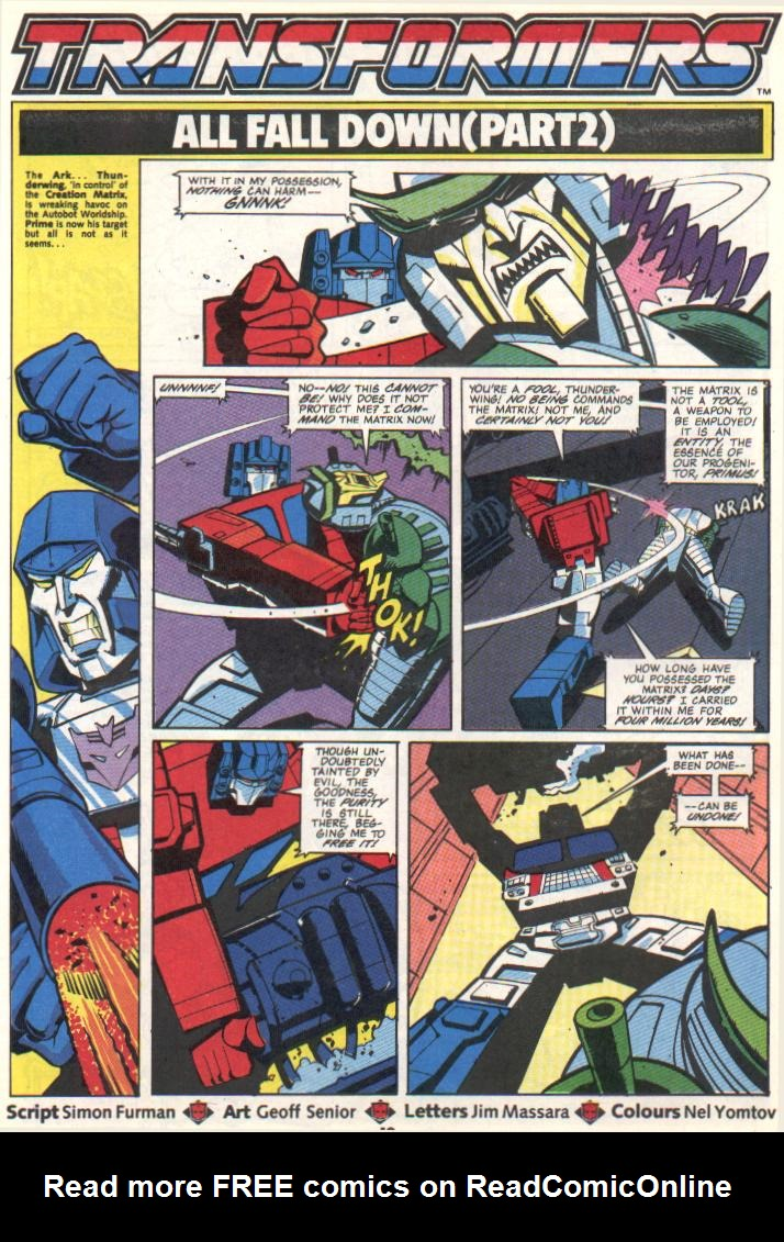 The Transformers (UK) 295 Page 1