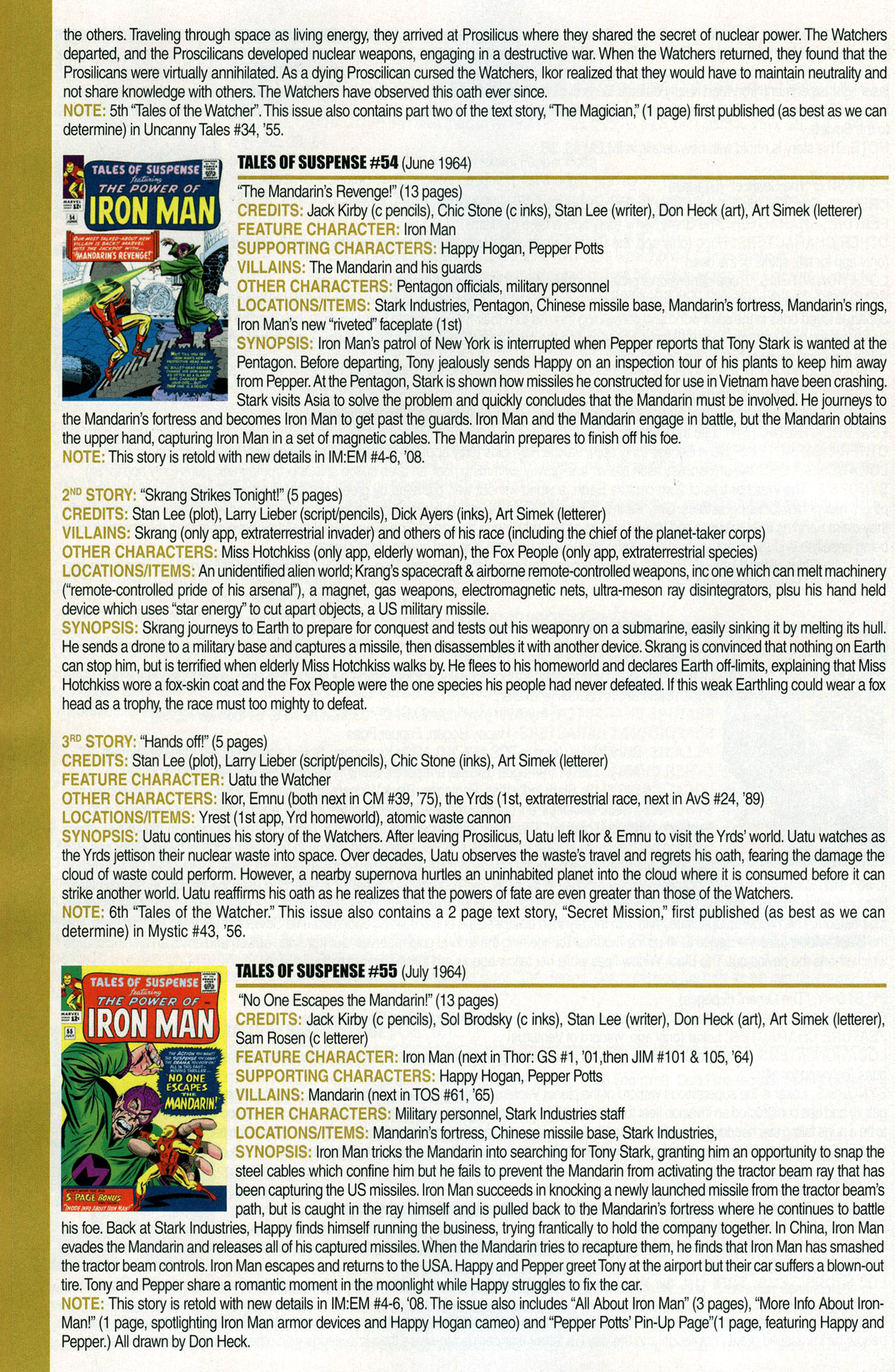 Read online Official Index to the Marvel Universe comic -  Issue #1 - 34