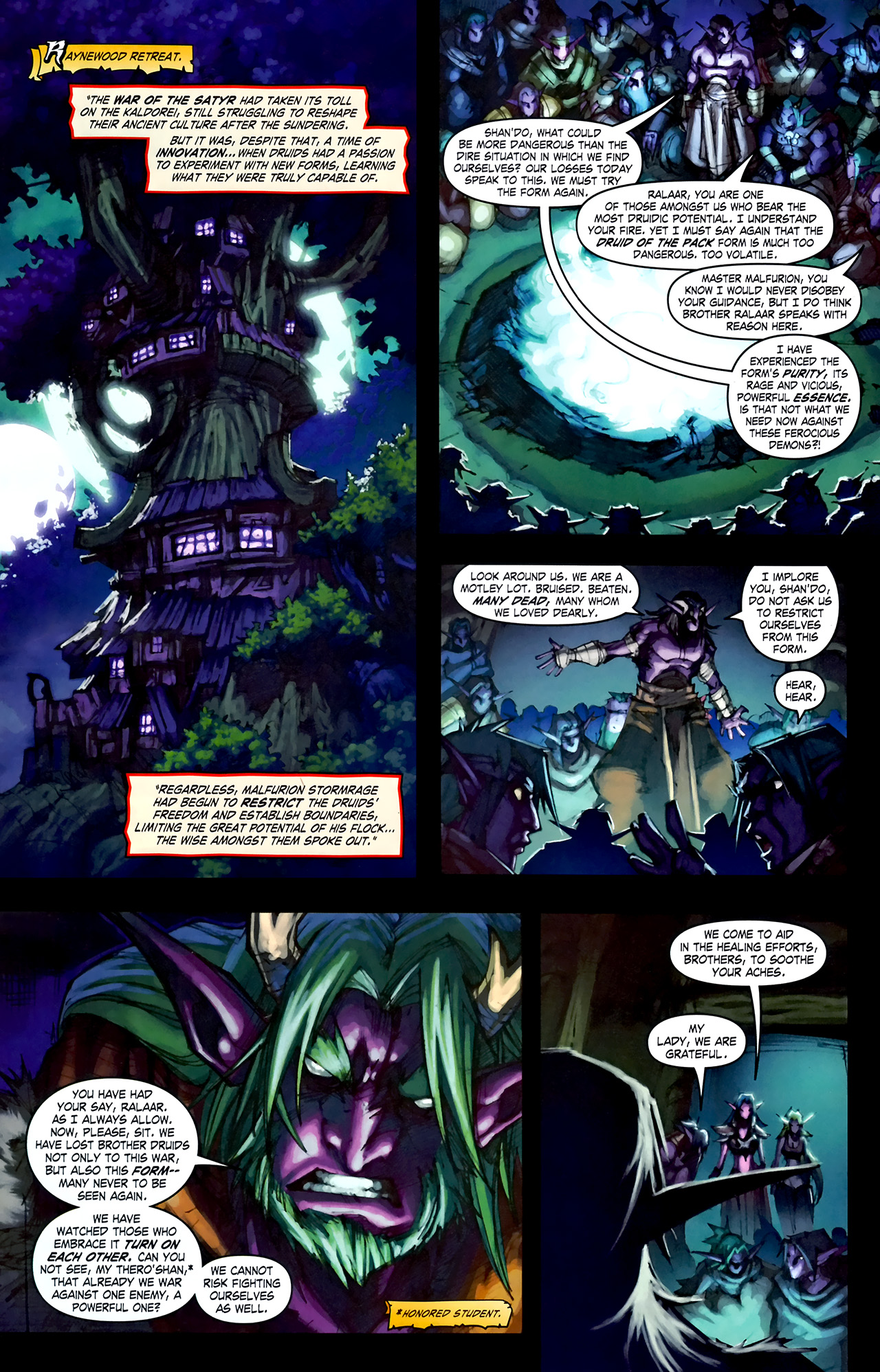 Read online World of Warcraft: Curse of the Worgen comic -  Issue #1 - 26