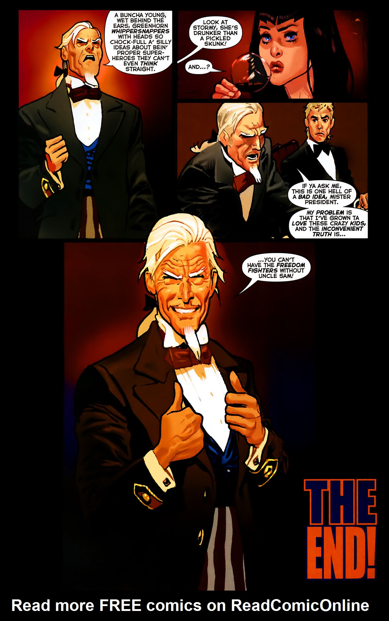 Read online Uncle Sam and the Freedom Fighters (2006) comic -  Issue #8 - 21
