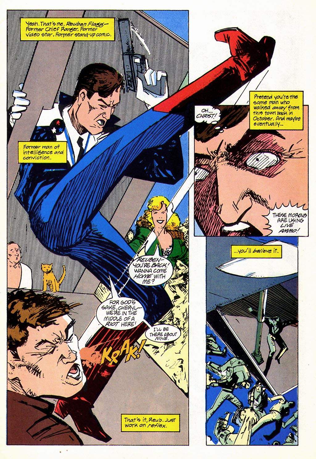 Read online American Flagg! comic -  Issue #45 - 5