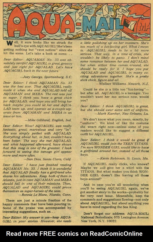 Read online Aquaman (1962) comic -  Issue #35 - 23