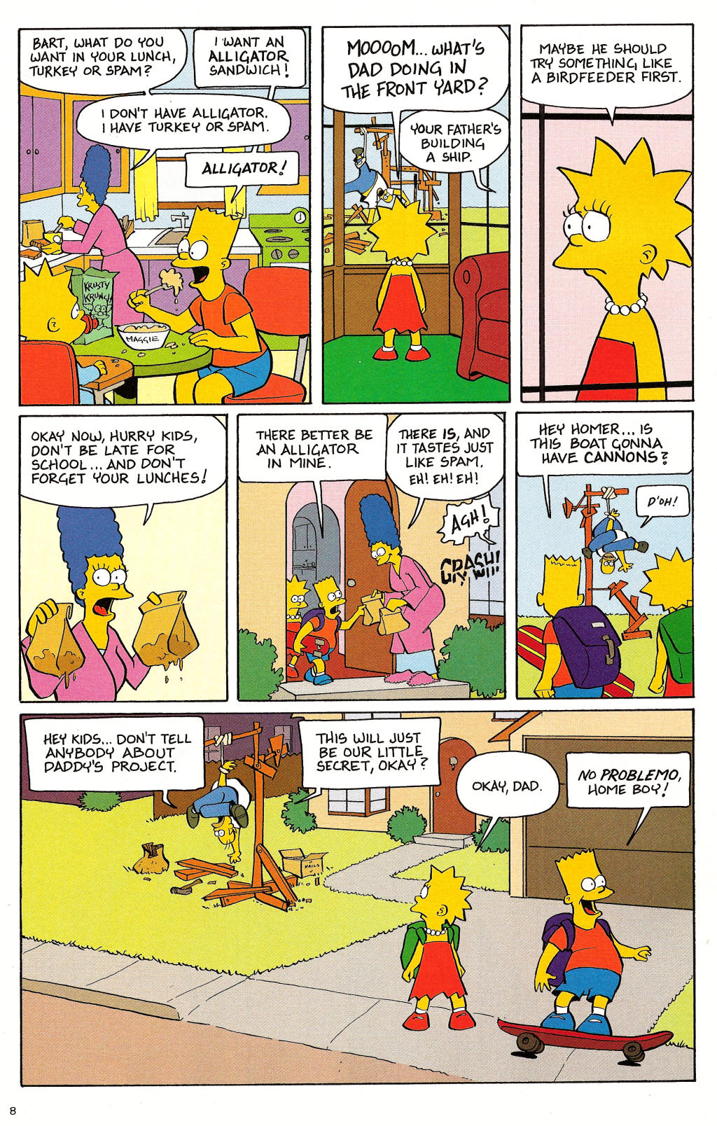 Read online Treehouse of Horror comic -  Issue #12 - 10