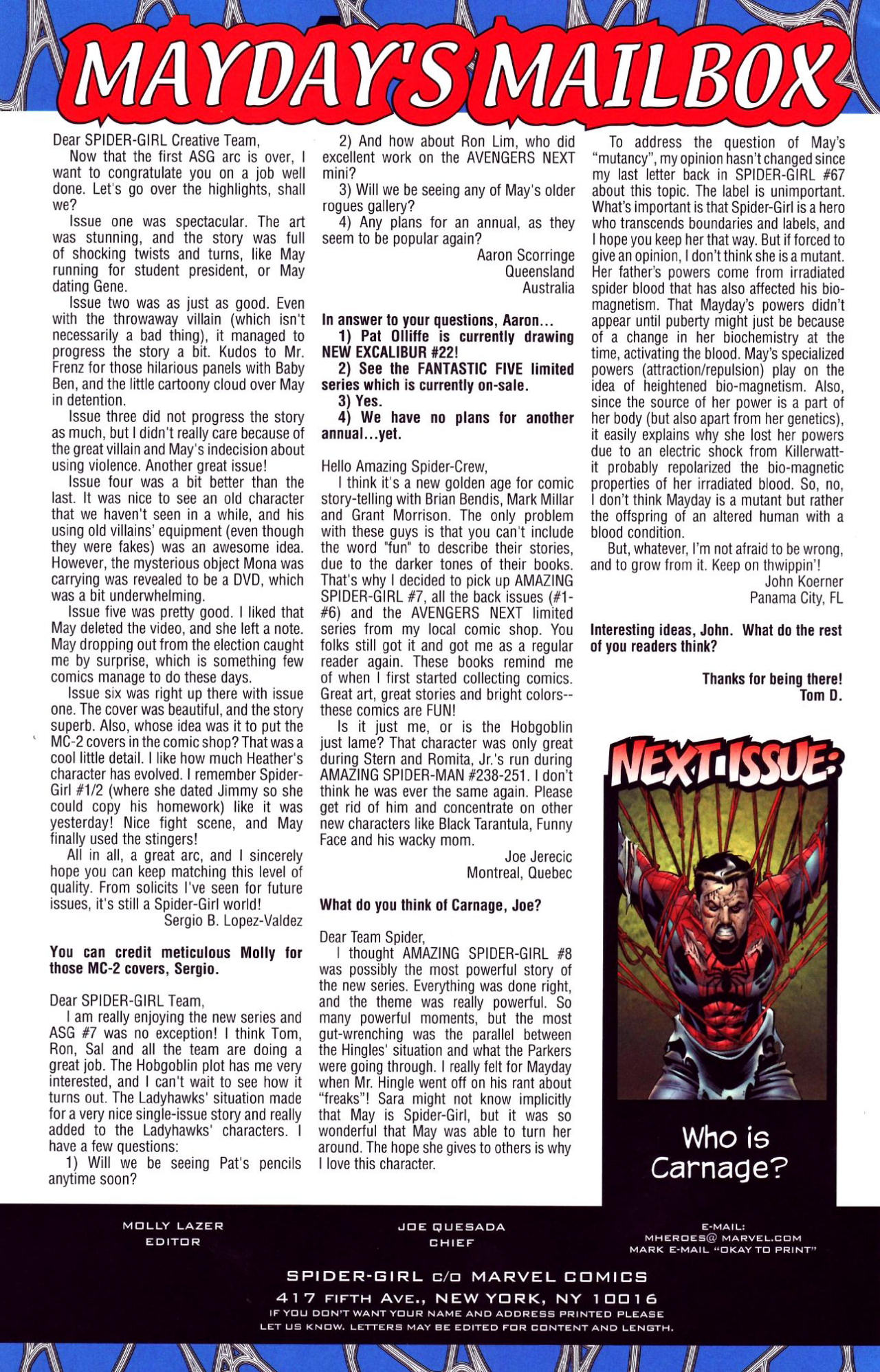 Read online Amazing Spider-Girl comic -  Issue #10 - 22