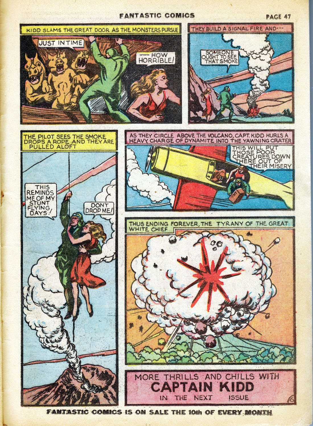 Read online Fantastic Comics comic -  Issue #7 - 49