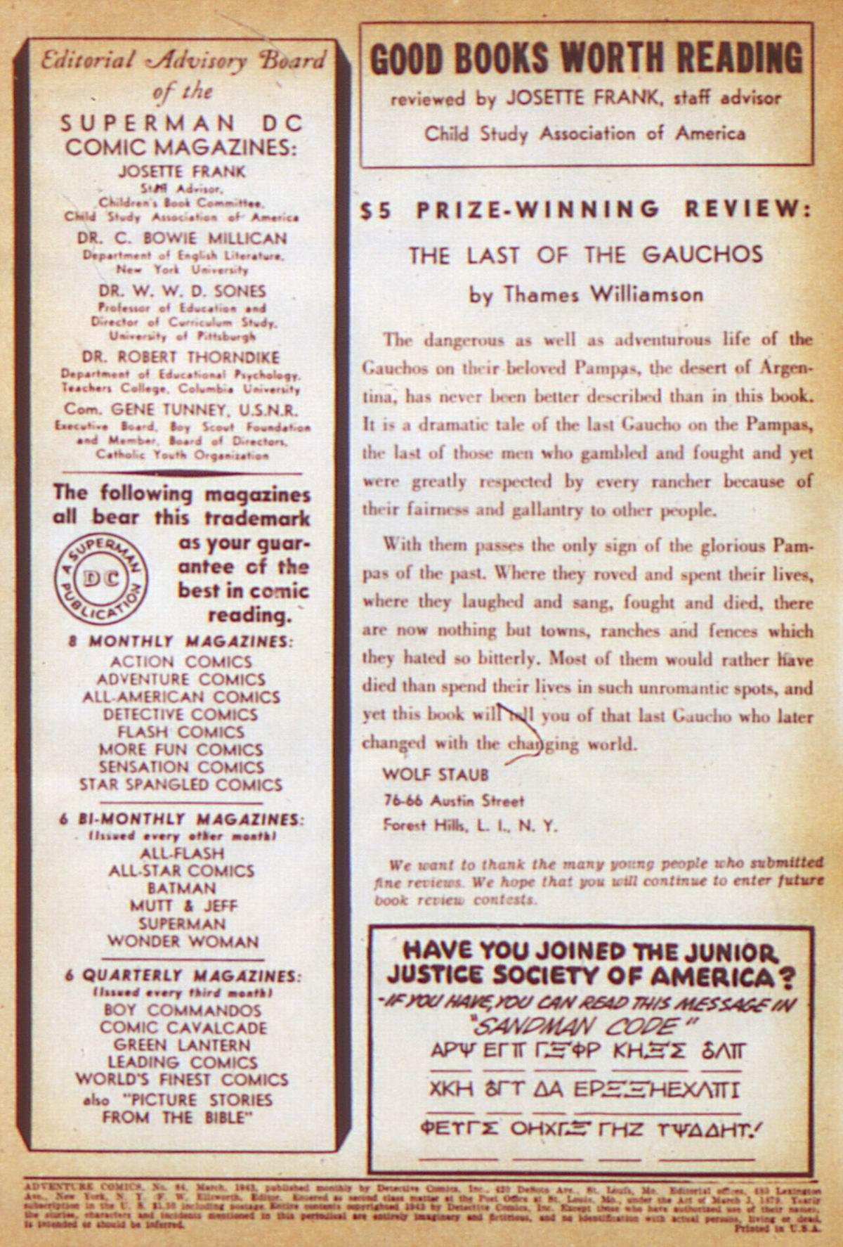 Read online Adventure Comics (1938) comic -  Issue #84 - 2