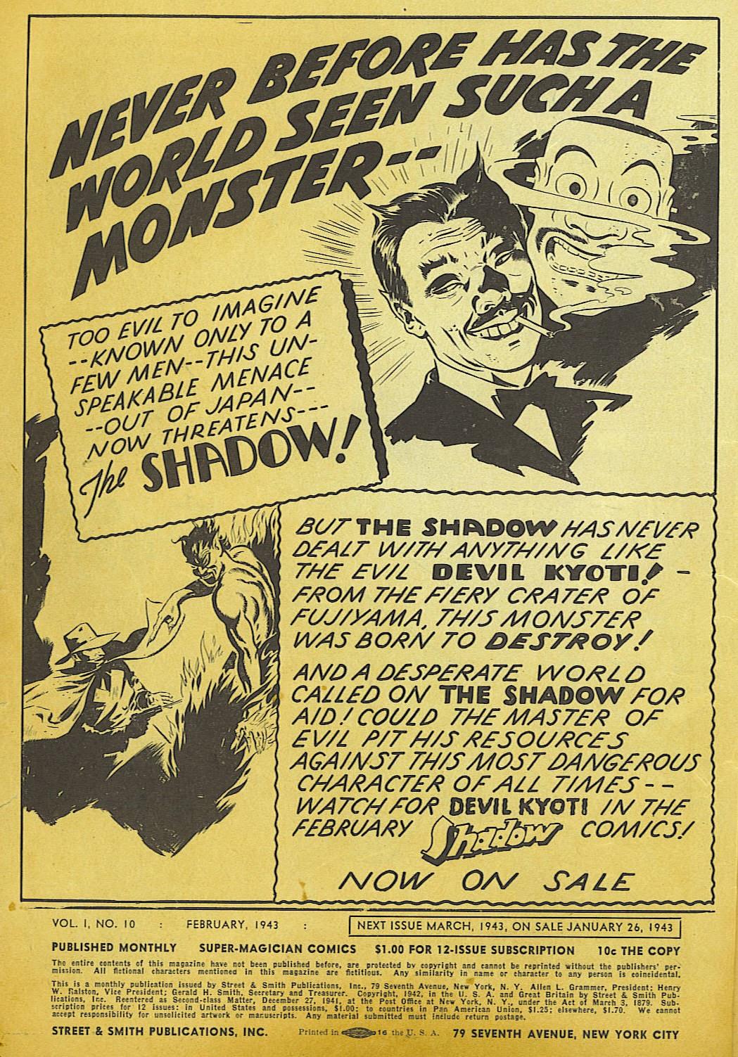 Read online Super-Magician Comics comic -  Issue #10 - 2