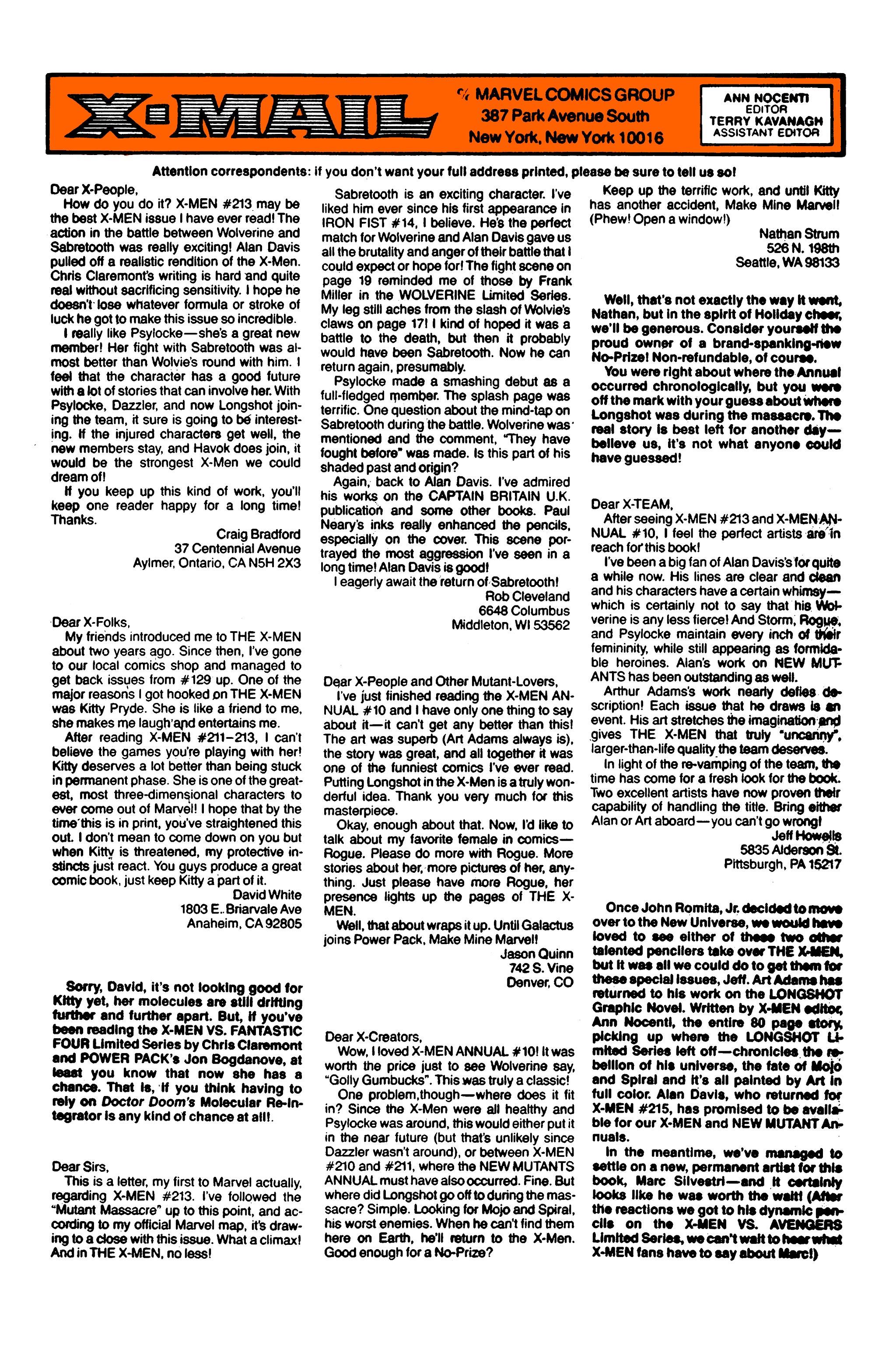 Read online Uncanny X-Men (1963) comic -  Issue #220 - 25