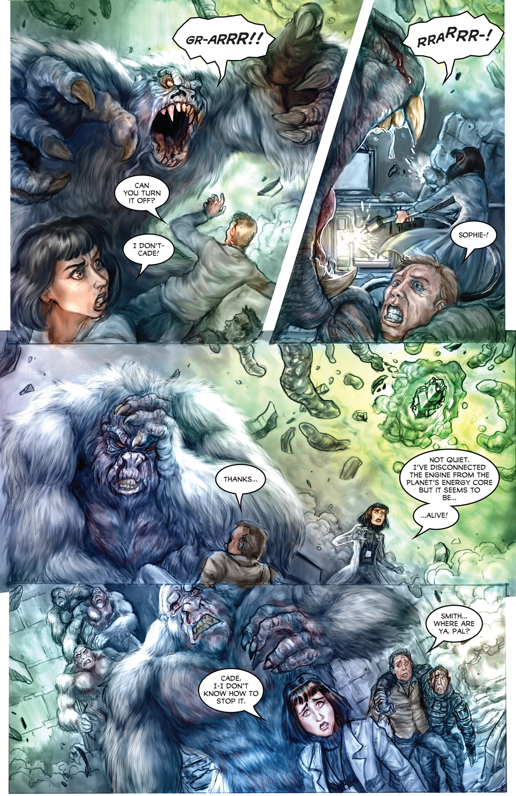 Read online American Mythology Dark: Werewolves vs Dinosaurs comic -  Issue #2 - 21