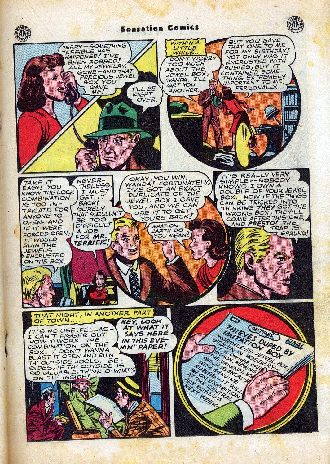 Read online Sensation (Mystery) Comics comic -  Issue #47 - 27