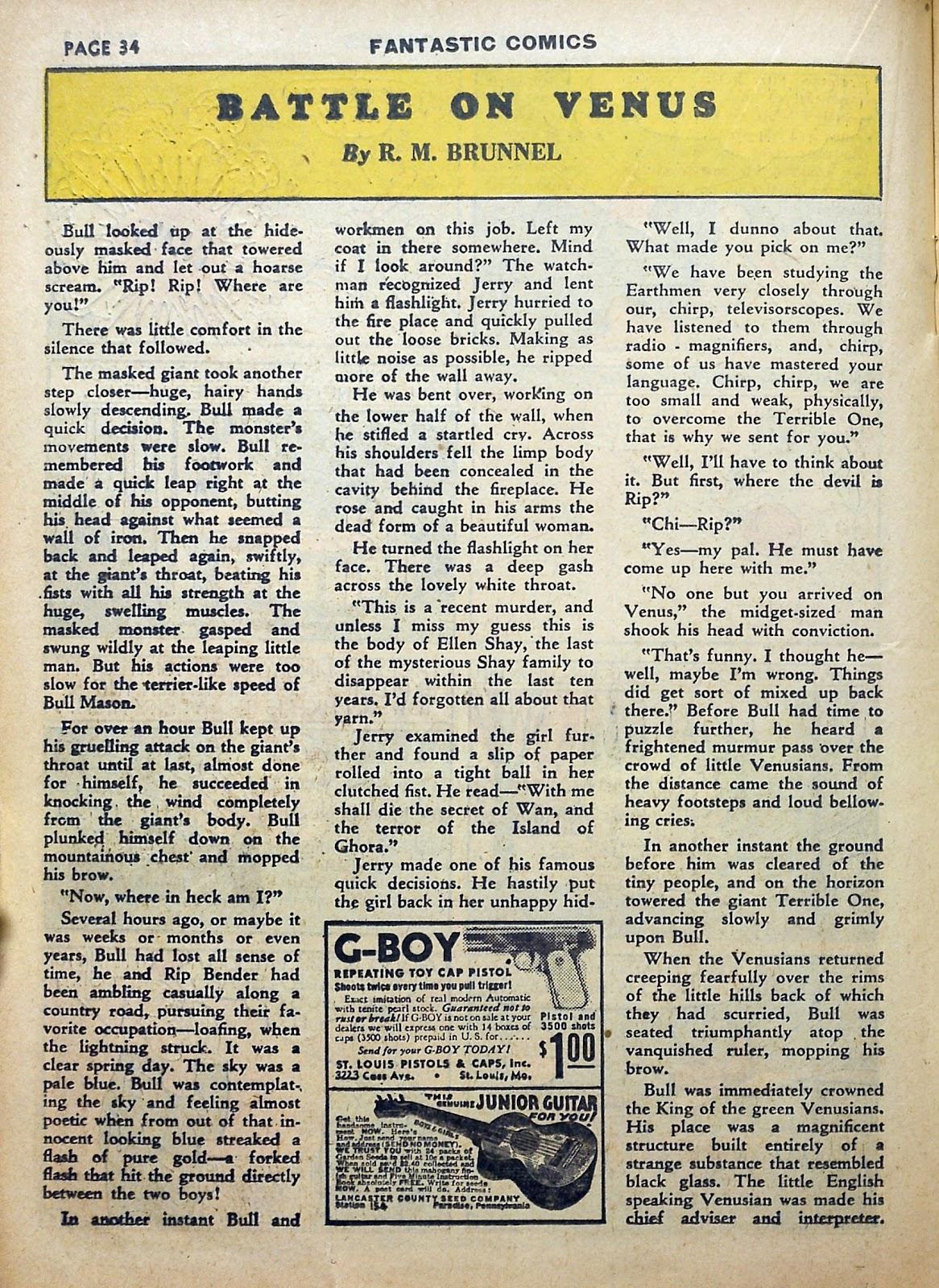 Read online Fantastic Comics comic -  Issue #5 - 35