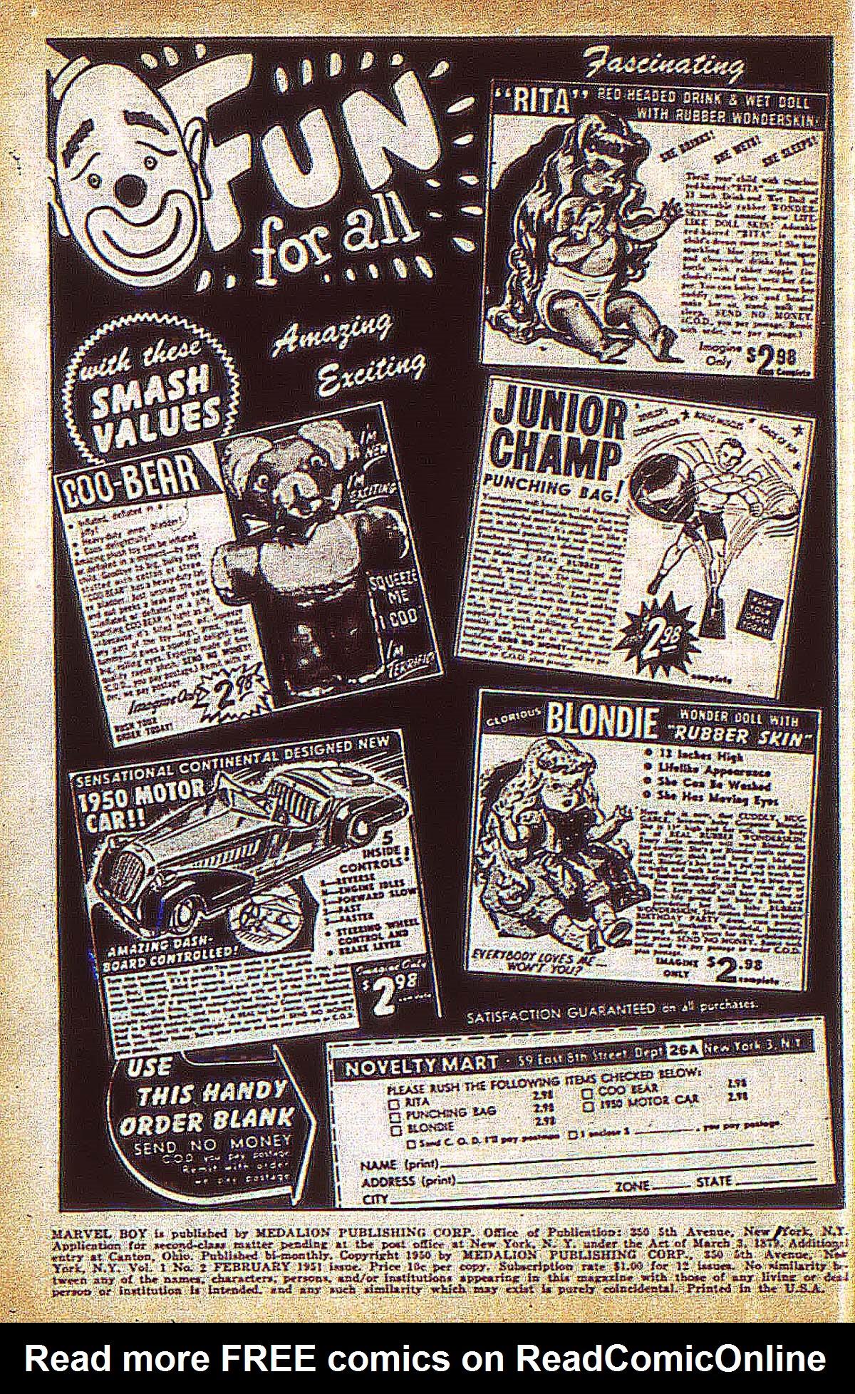 Read online Marvel Boy (1950) comic -  Issue #2 - 3