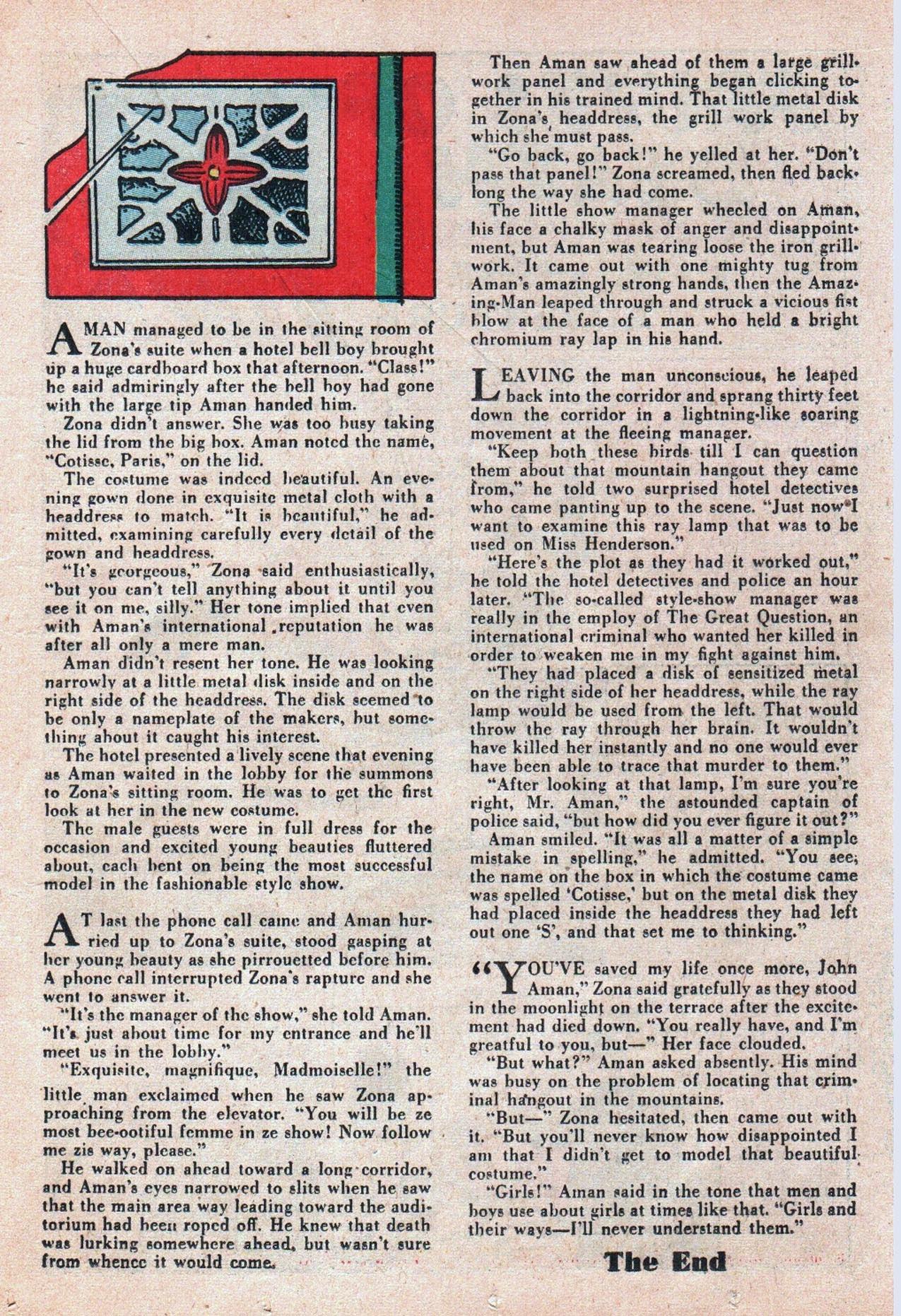 Read online Amazing Man Comics comic -  Issue #20 - 38