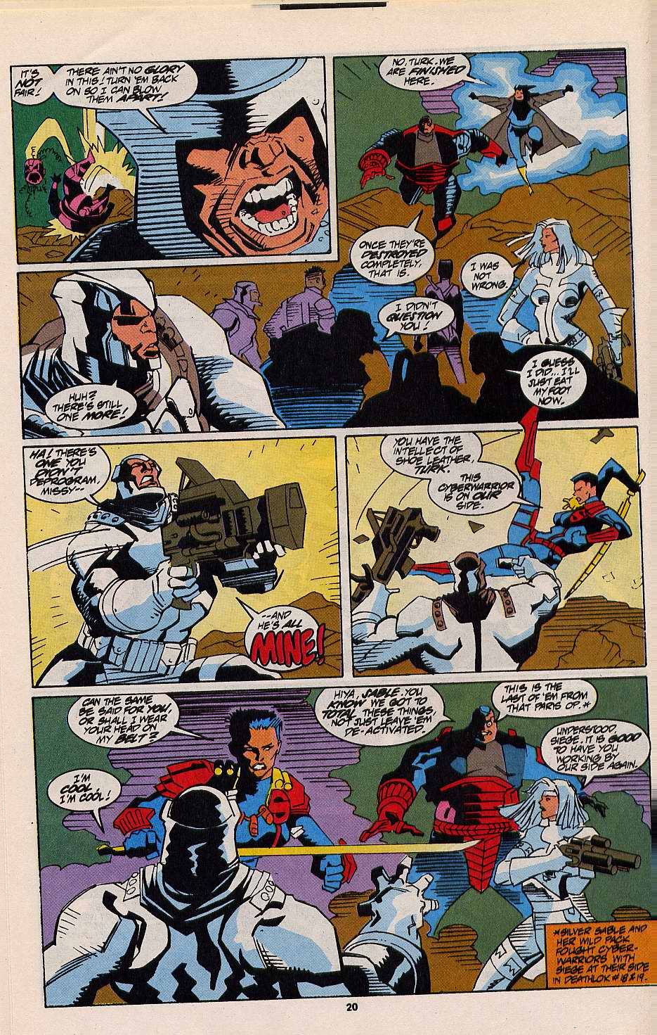 Read online Silver Sable and the Wild Pack comic -  Issue #12 - 18