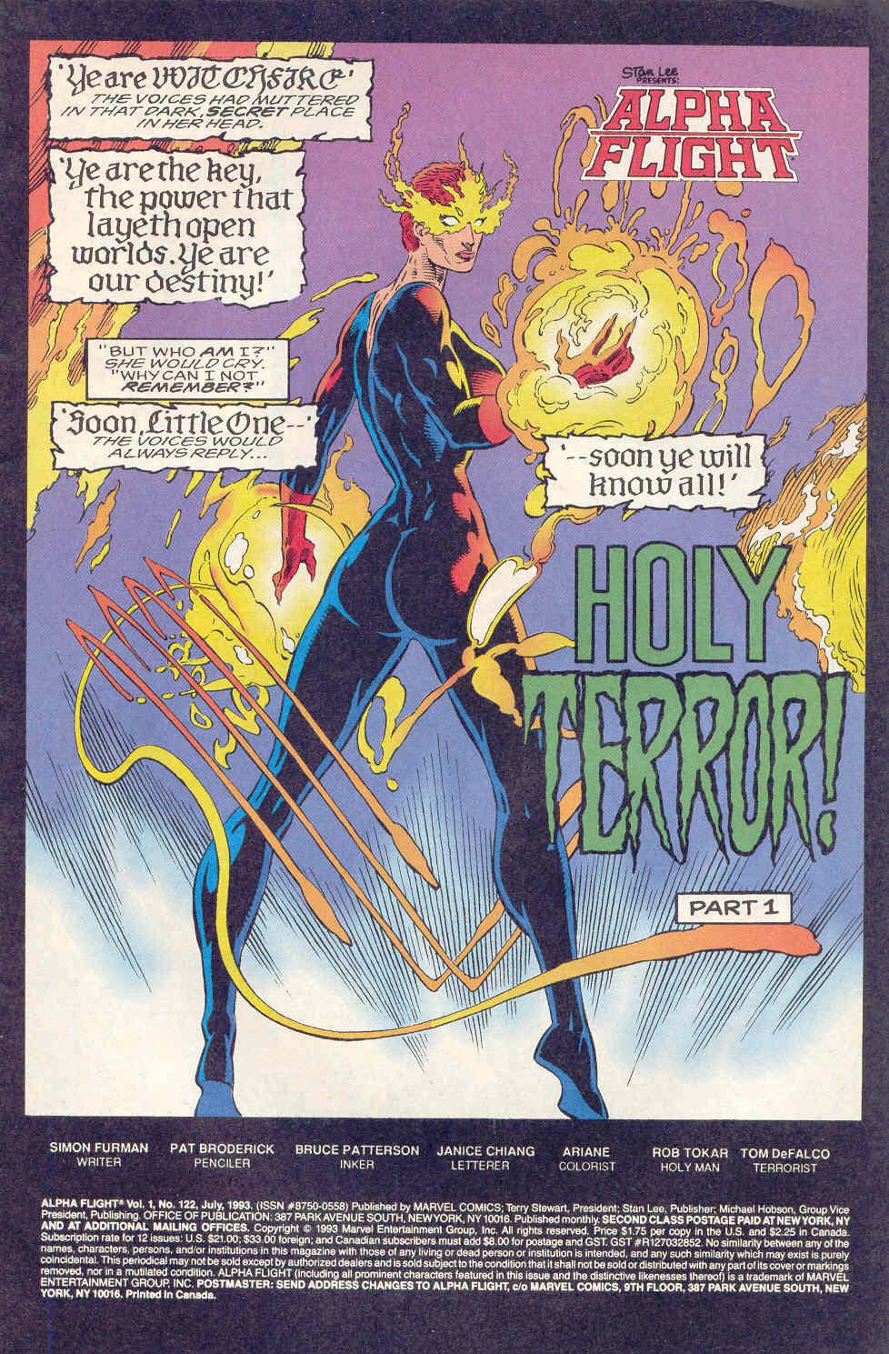 Read online Alpha Flight (1983) comic -  Issue #122 - 2