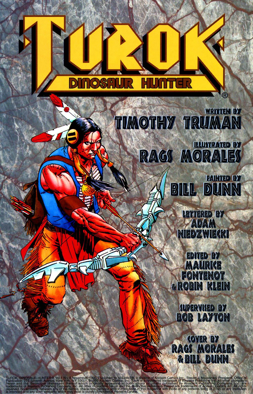 Read online Turok, Dinosaur Hunter (1993) comic -  Issue #0 - 2