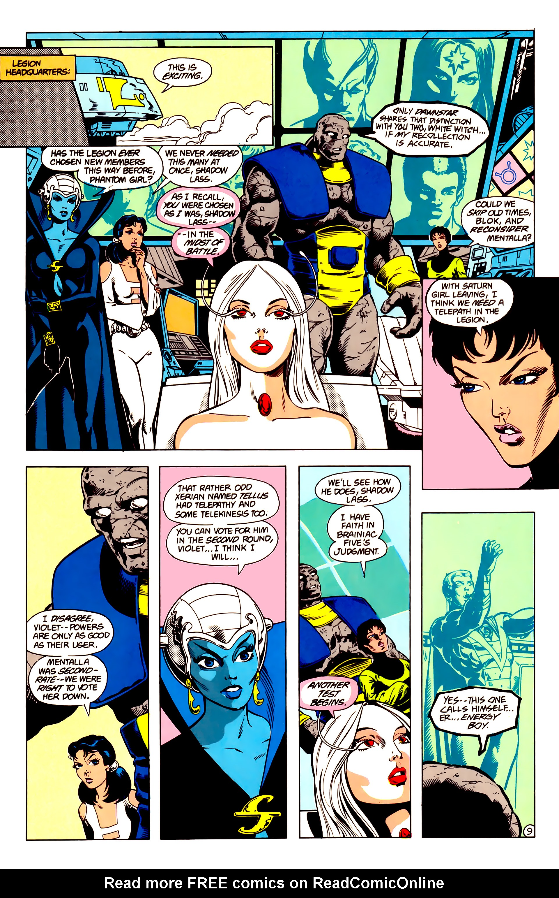 Legion of Super-Heroes (1984) 14 Page 10