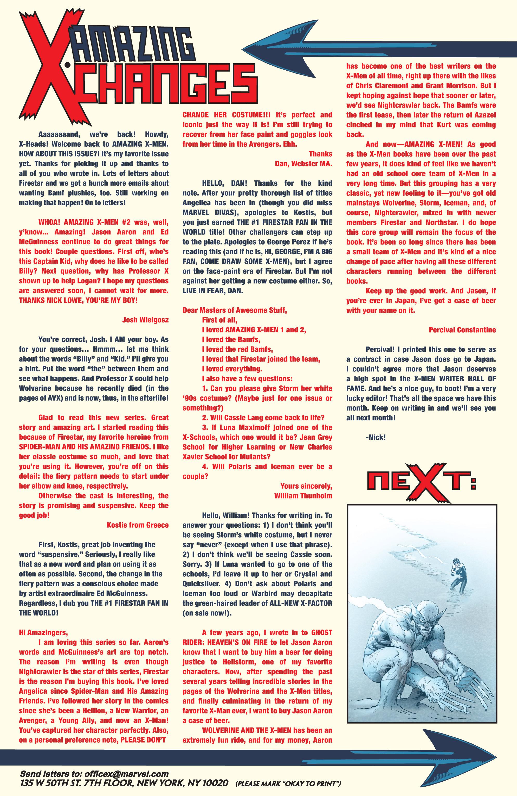Read online Amazing X-Men (2014) comic -  Issue #3 - 22