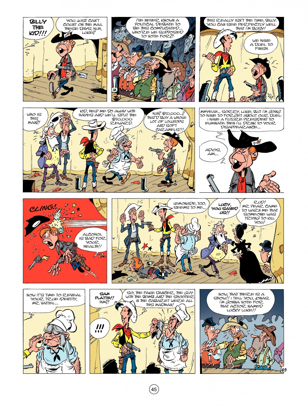 Read online A Lucky Luke Adventure comic -  Issue #39 - 45