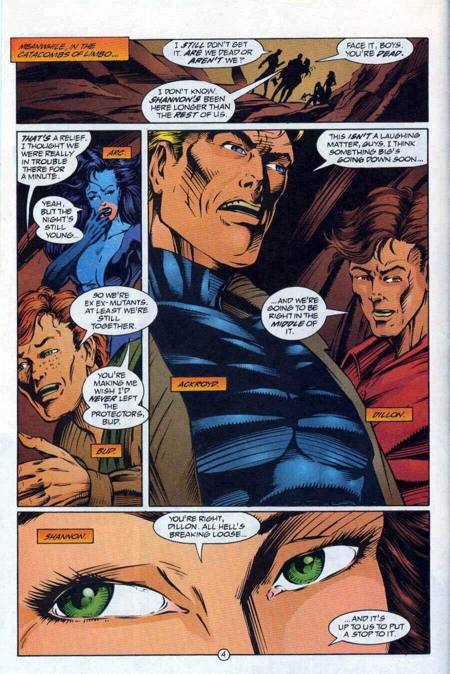 Read online Ex-Mutants comic -  Issue #17 - 5