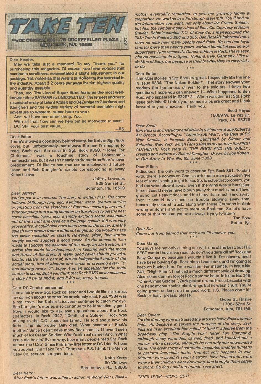 Read online Sgt. Rock comic -  Issue #357 - 19