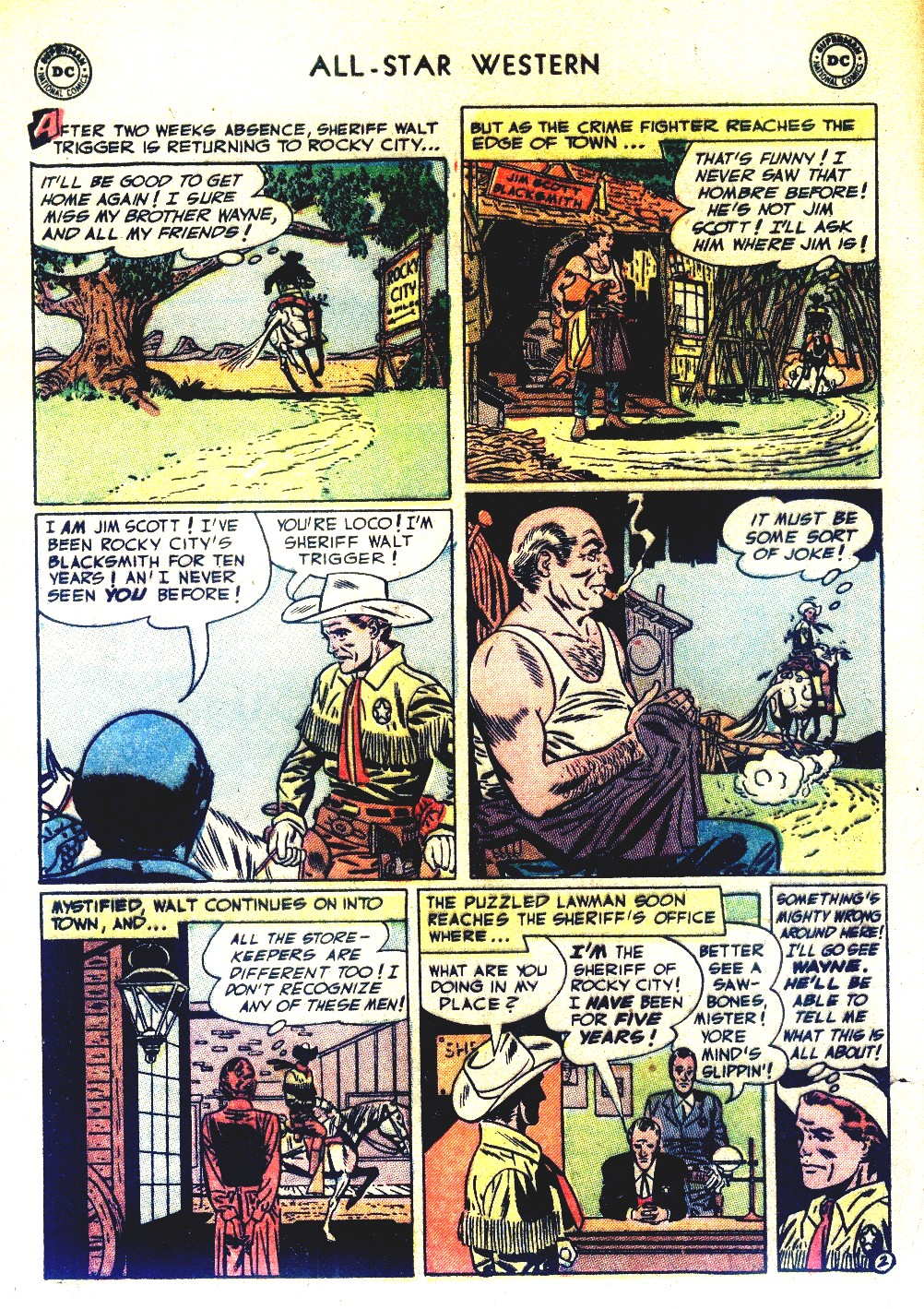 Read online All-Star Western (1951) comic -  Issue #66 - 4