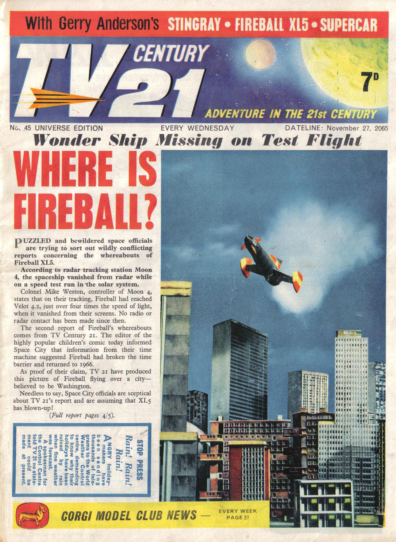 Read online TV Century 21 (TV 21) comic -  Issue #45 - 1