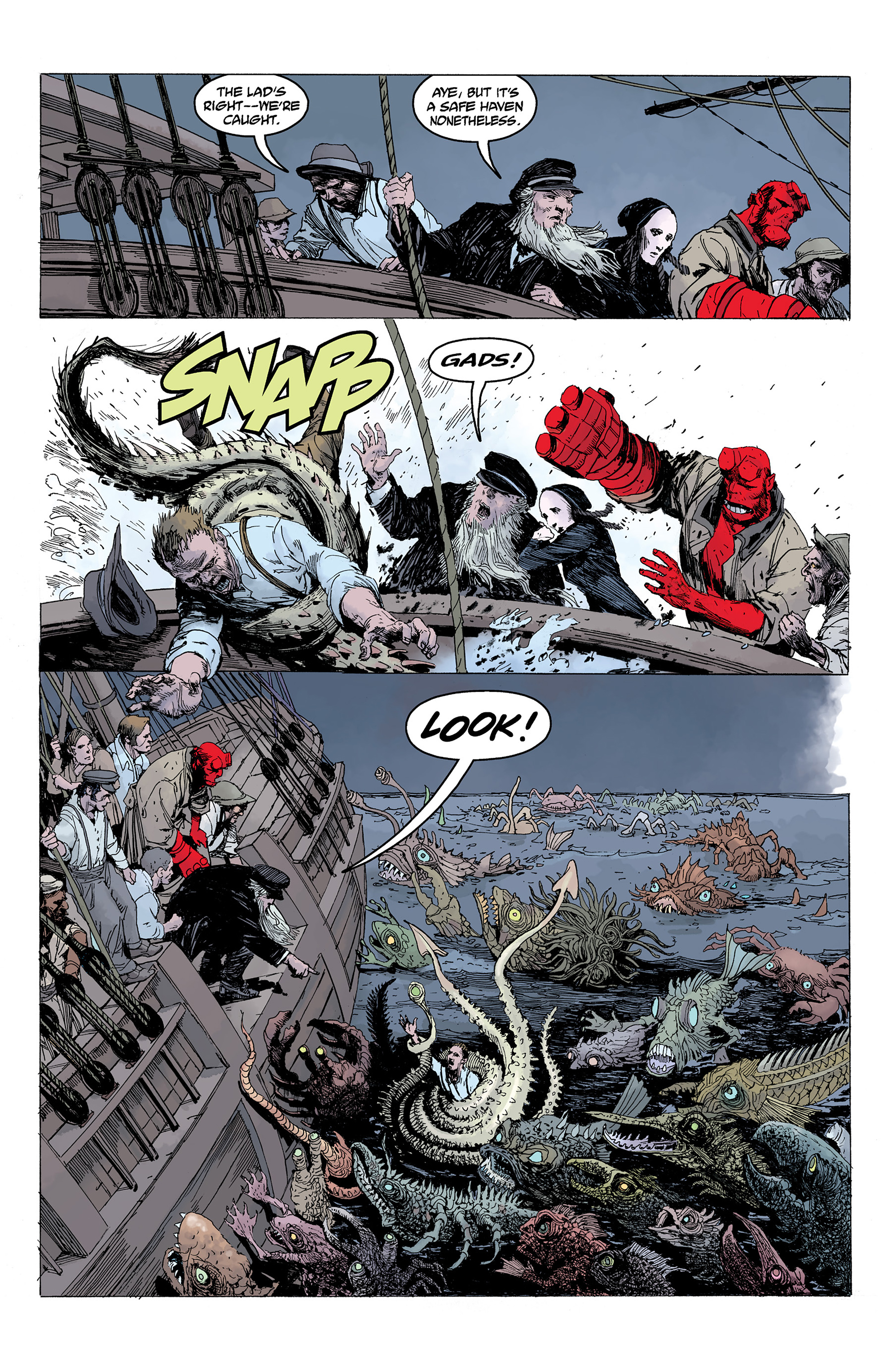 Read online Hellboy: Into the Silent Sea comic -  Issue # Full - 44