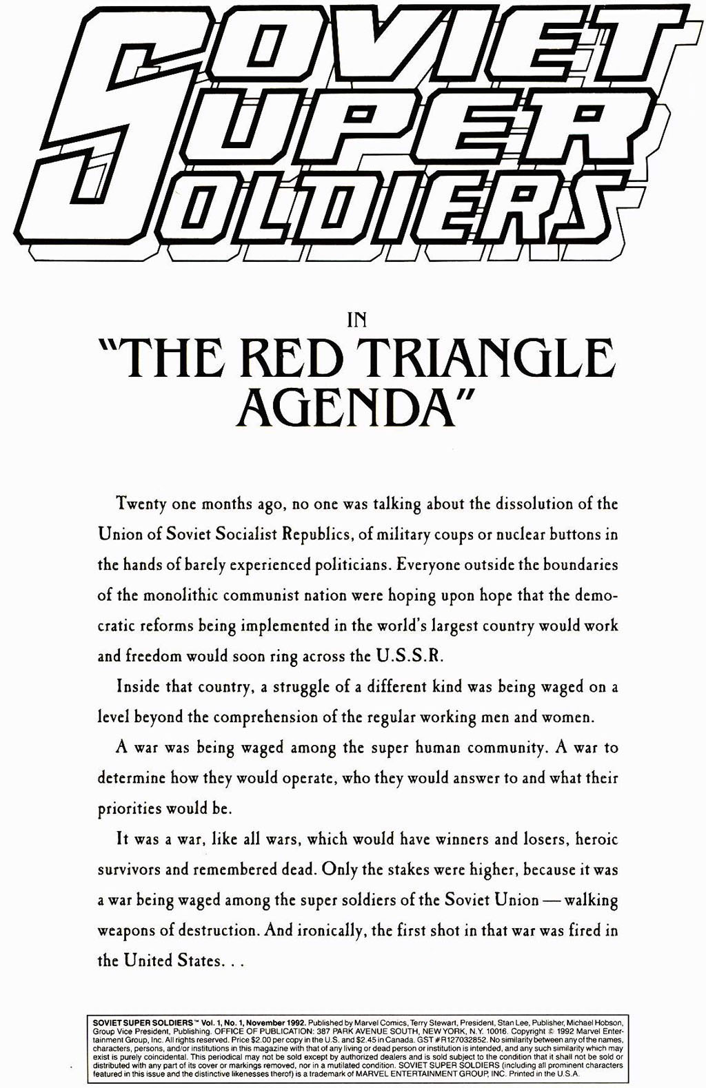 Read online Soviet Super Soldiers comic -  Issue # Full - 2