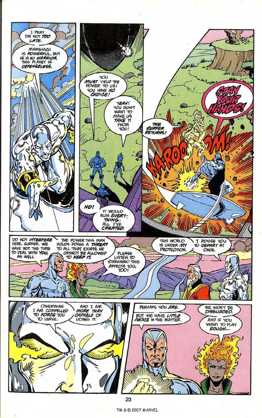 Read online Silver Surfer (1987) comic -  Issue # _Annual 4 - 25