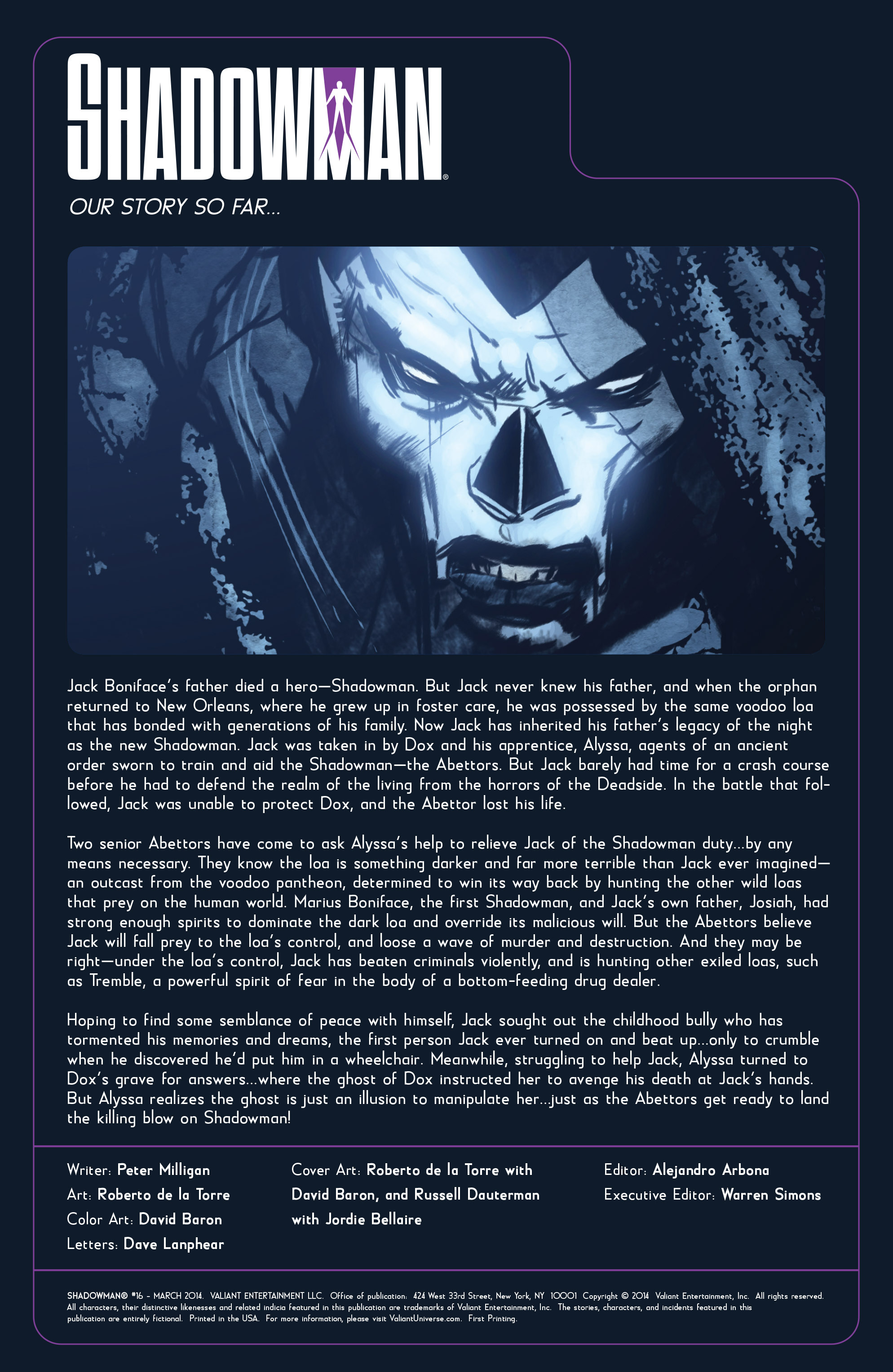Read online Shadowman (2012) comic -  Issue #16 - 2