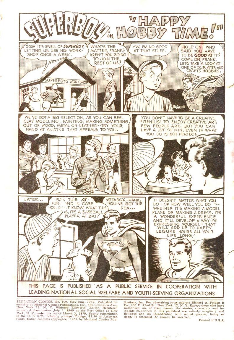 Read online Sensation (Mystery) Comics comic -  Issue #109 - 2
