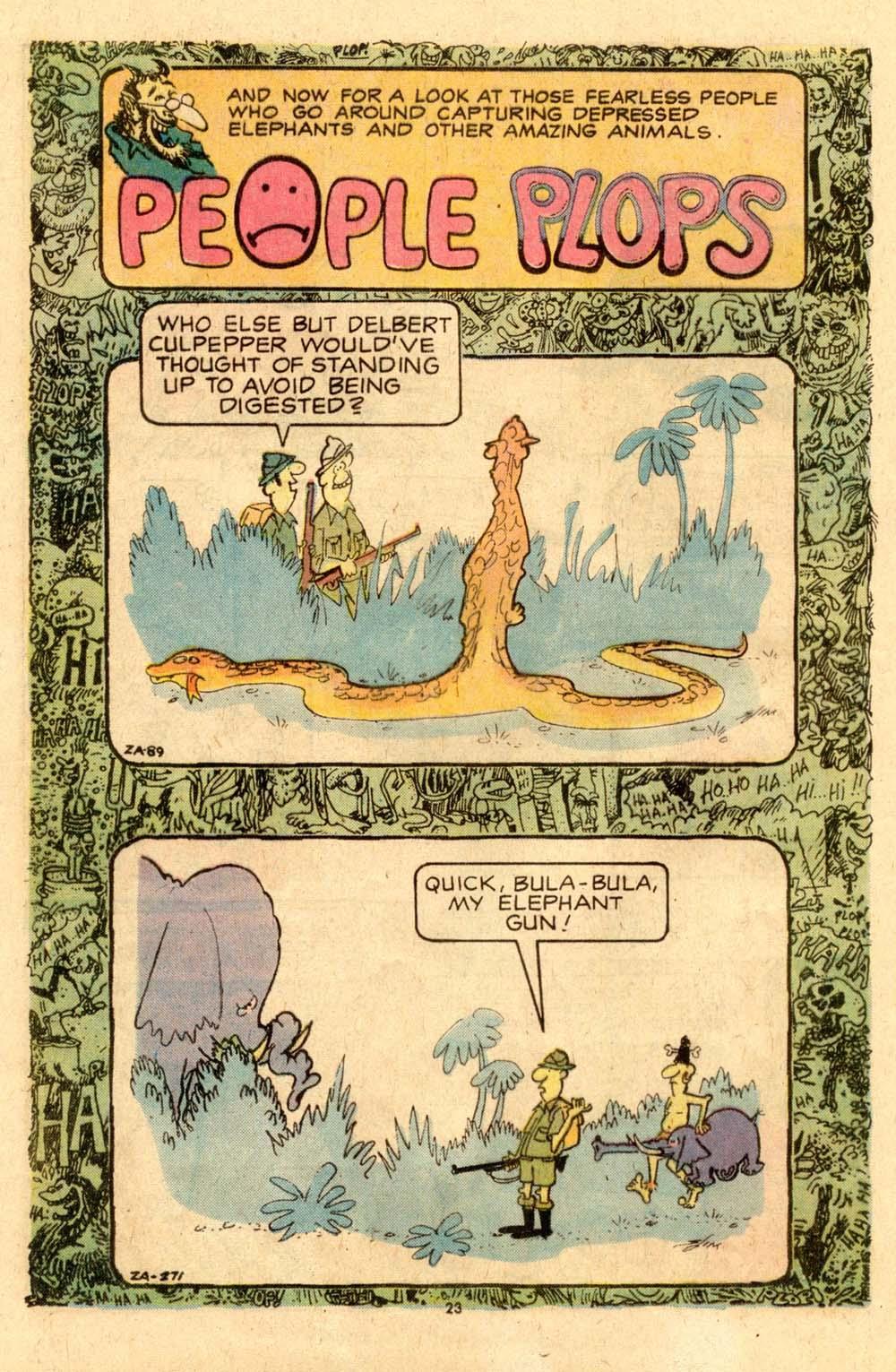 Read online Plop! comic -  Issue #6 - 24