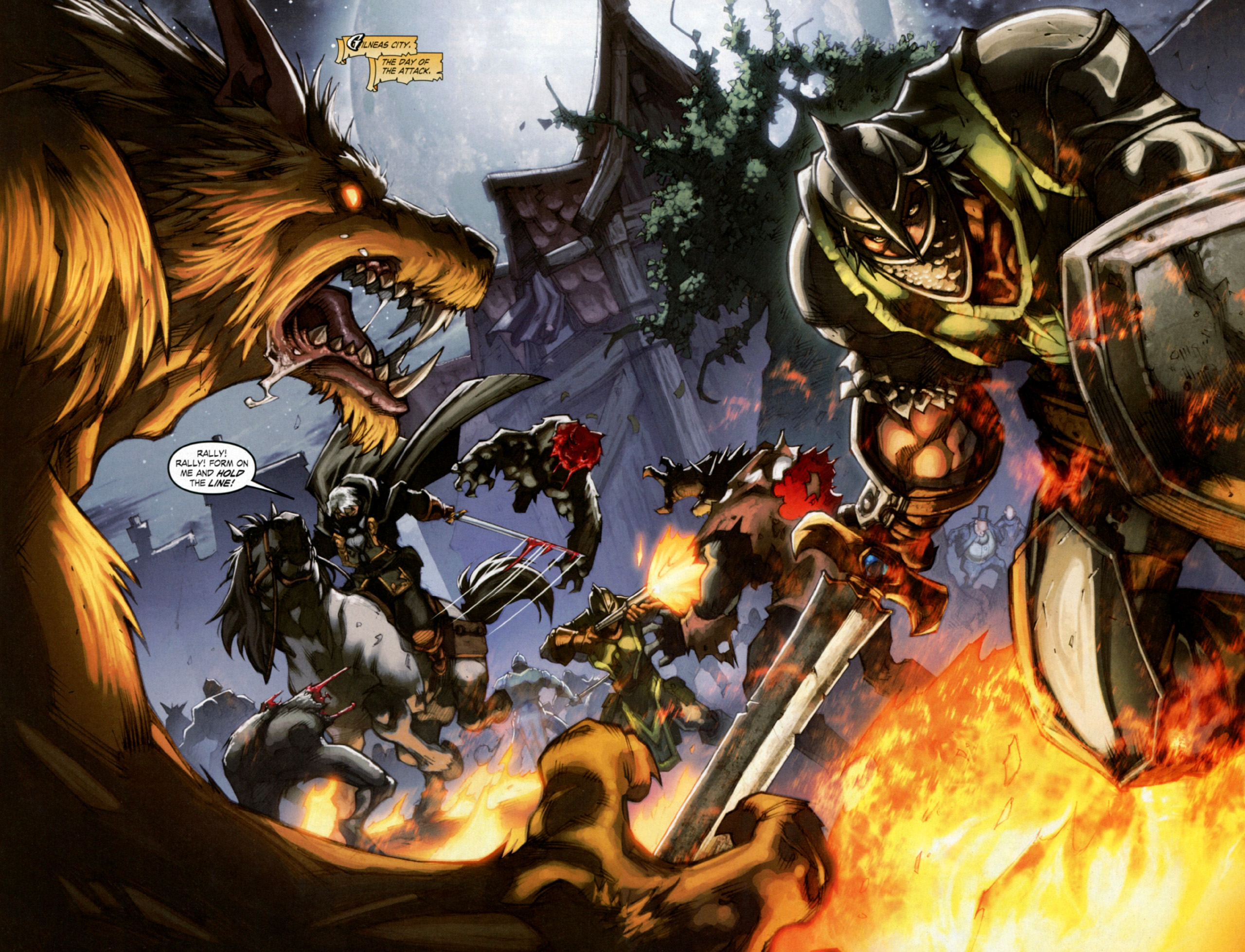 Read online World of Warcraft: Curse of the Worgen comic -  Issue #4 - 4