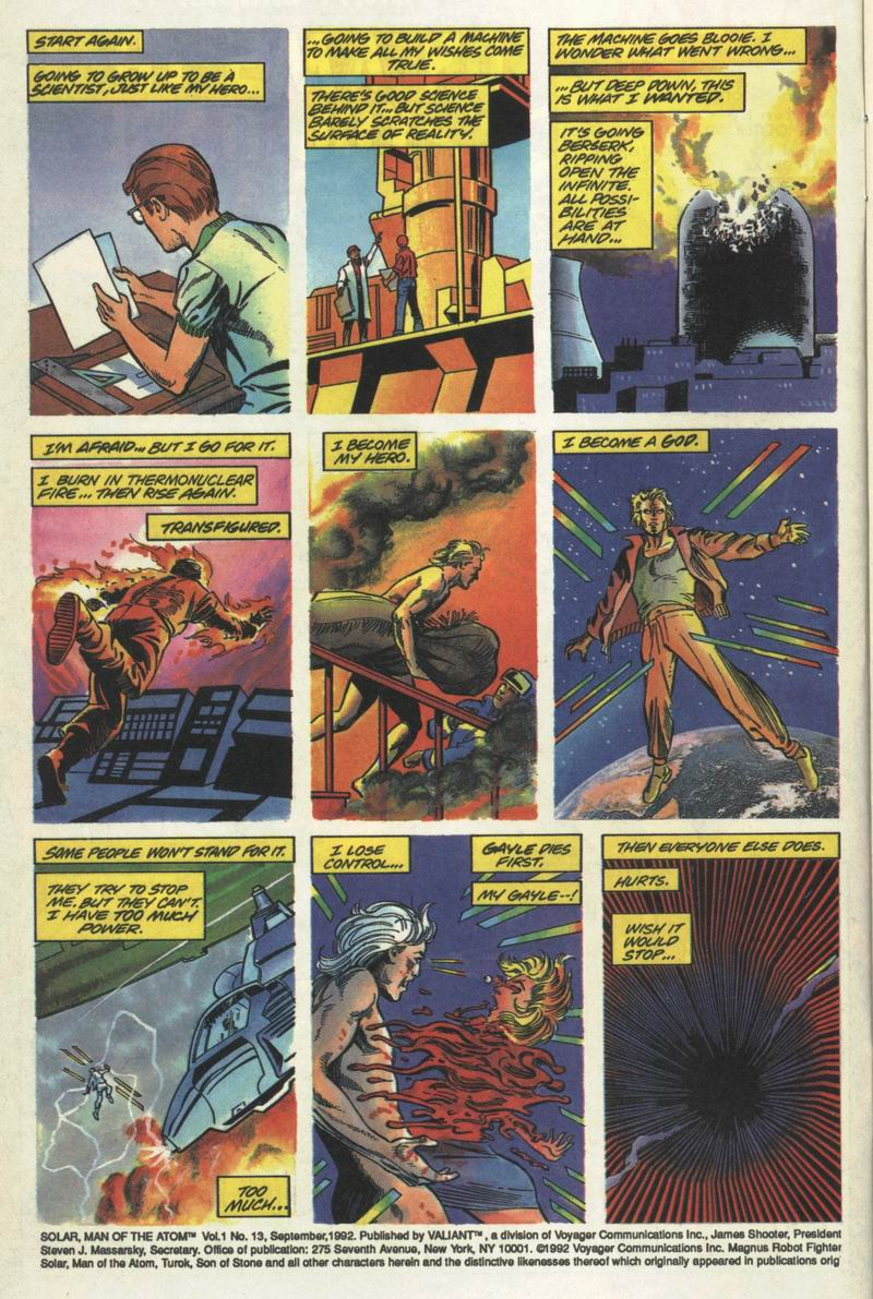 Read online Solar, Man of the Atom comic -  Issue #13 - 3