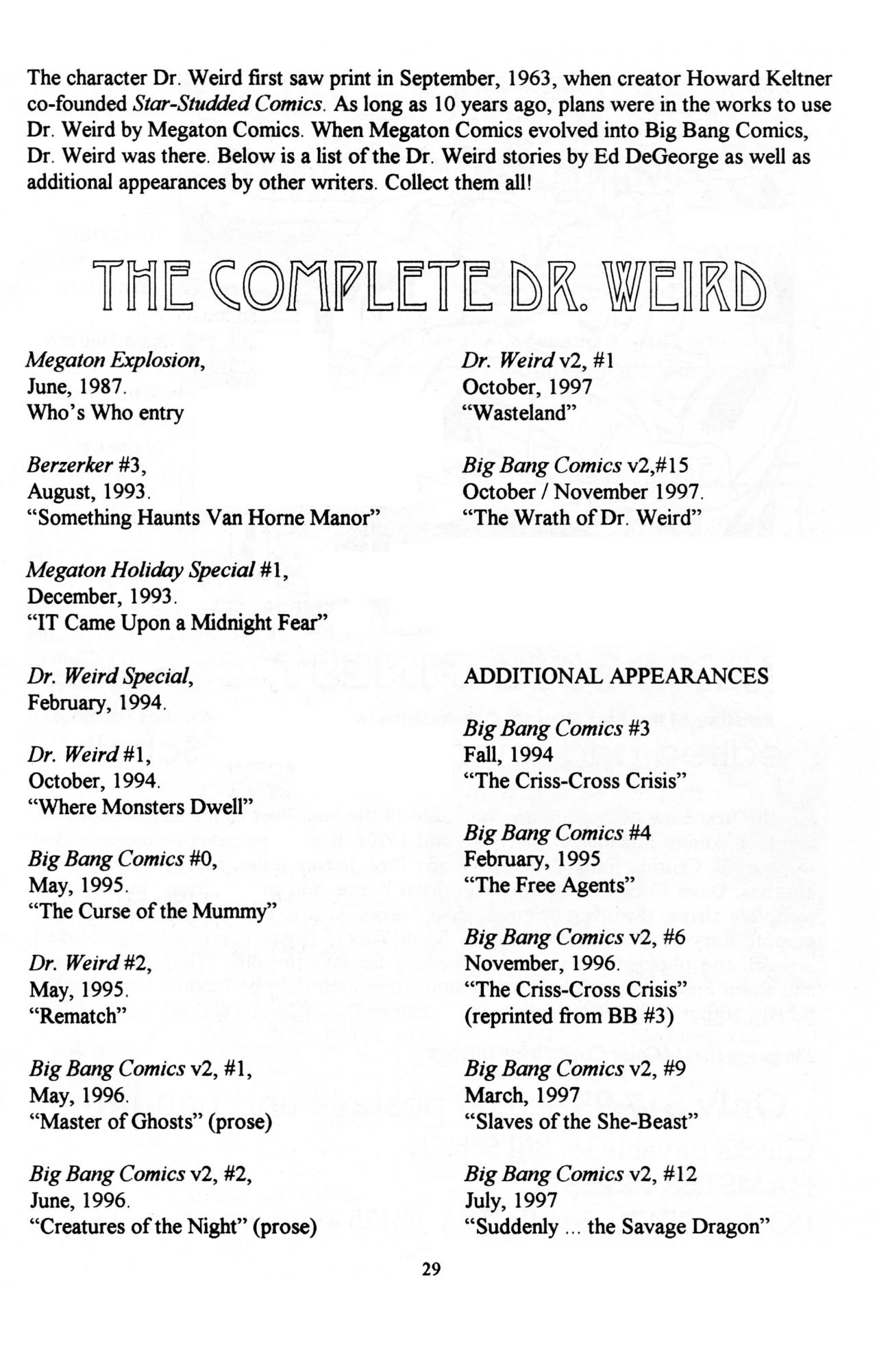 Read online Dr. Weird (1997) comic -  Issue #1 - 31
