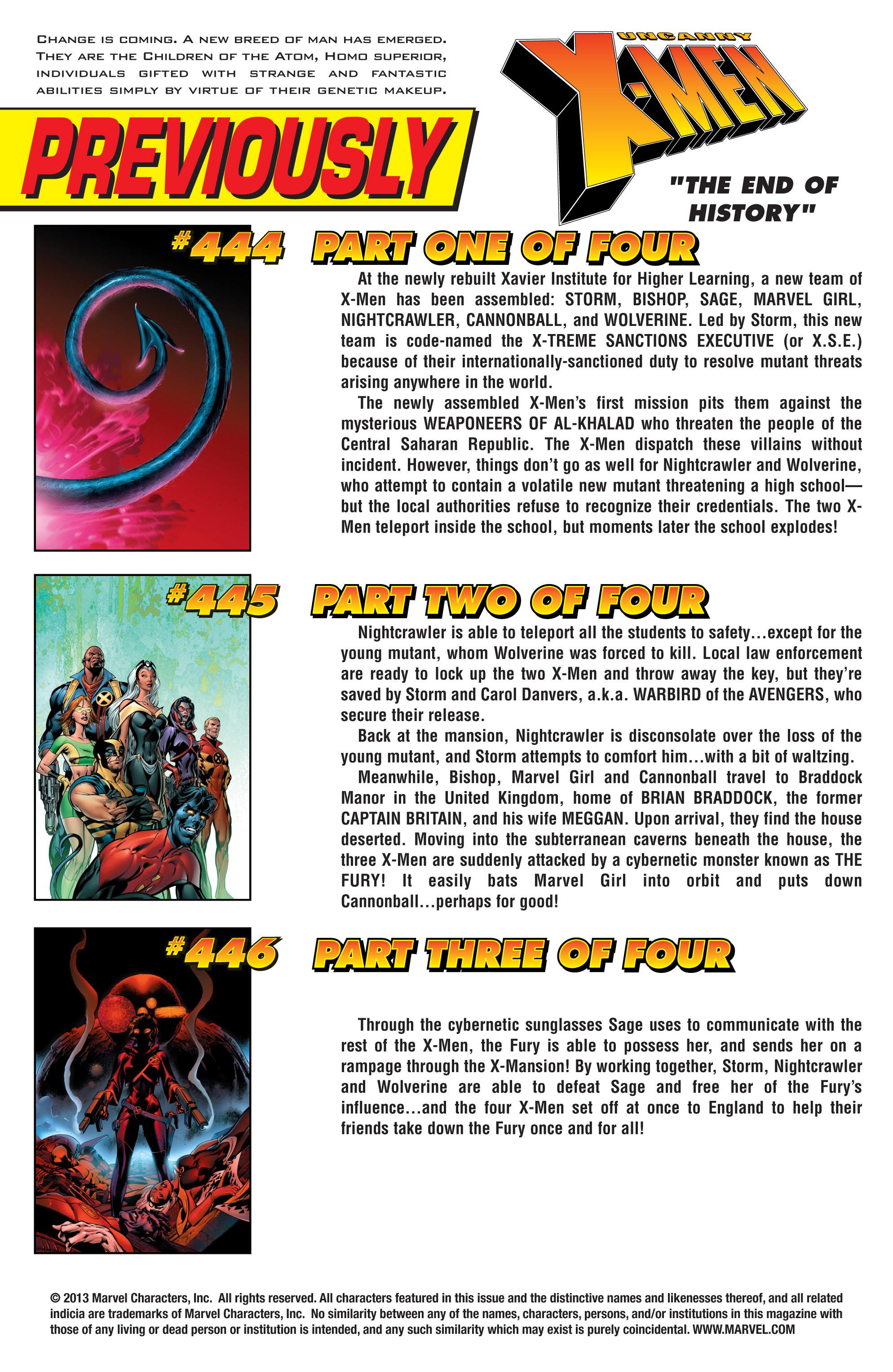Read online Uncanny X-Men (1963) comic -  Issue #447 - 2