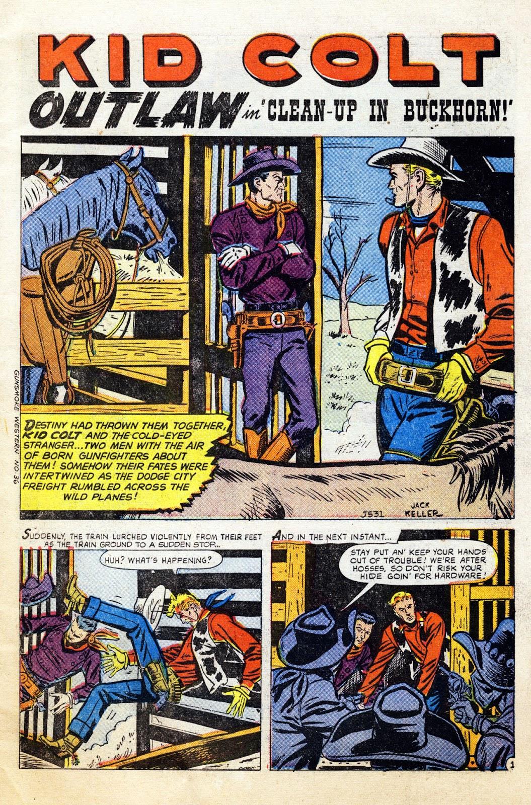 Gunsmoke Western issue 36 - Page 3