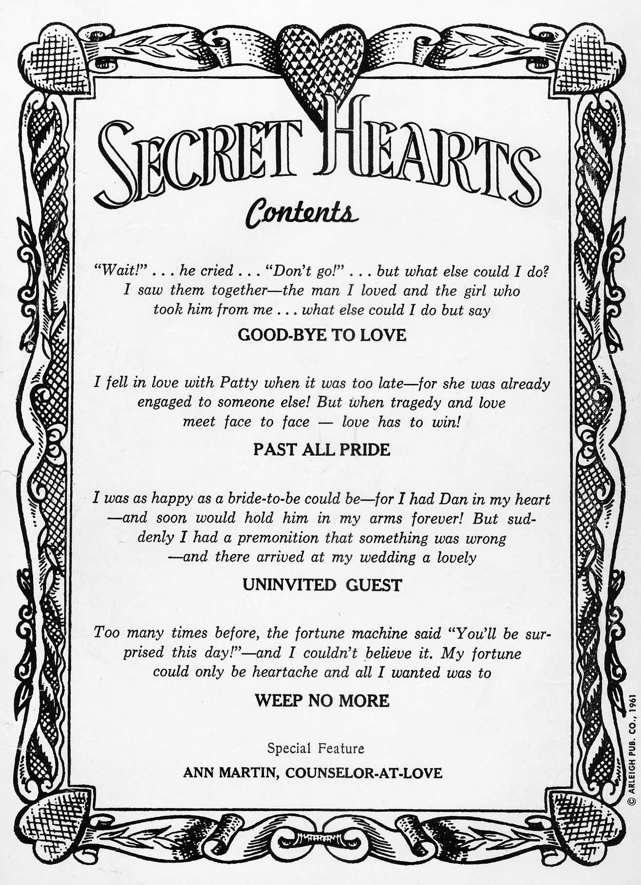 Read online Secret Hearts comic -  Issue #73 - 2