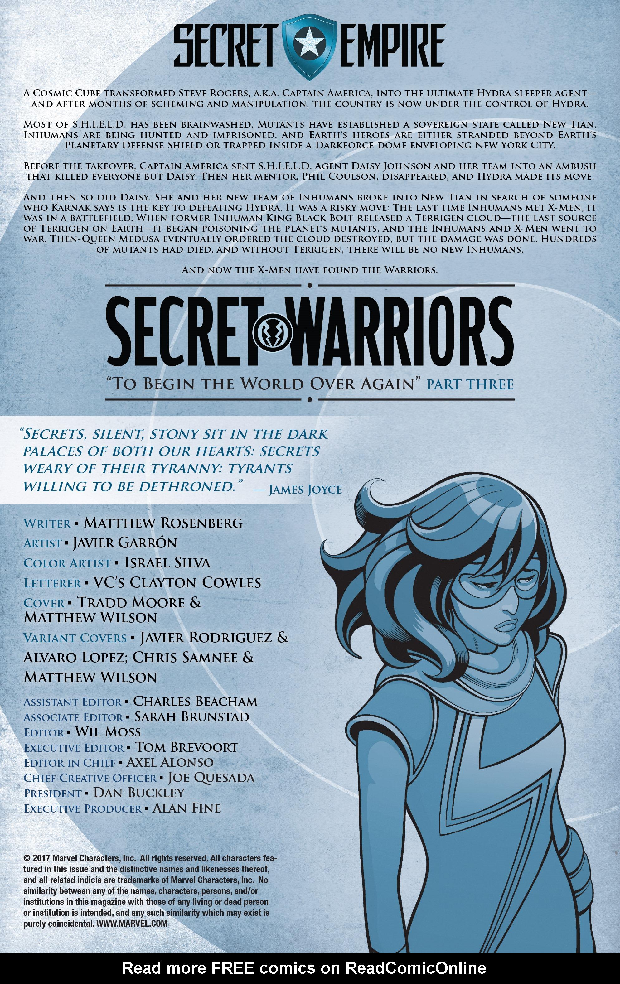 Read online Secret Warriors (2017) comic -  Issue #3 - 3
