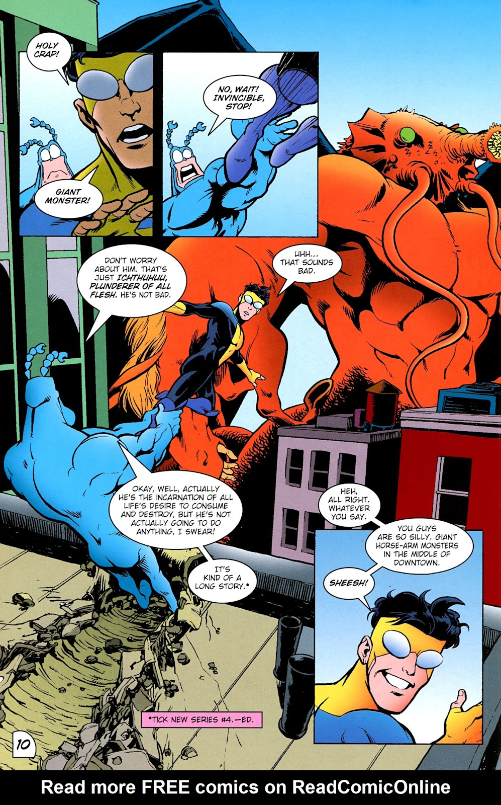 Read online The Tick comic -  Issue #100 - 12