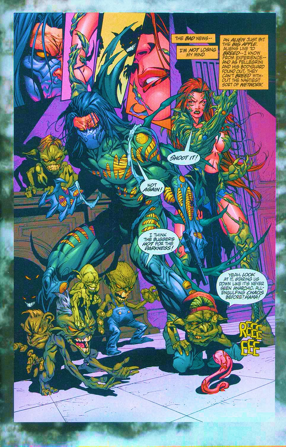 Read online Overkill: Witchblade/Aliens/Darkness/Predator comic -  Issue #1 - 47