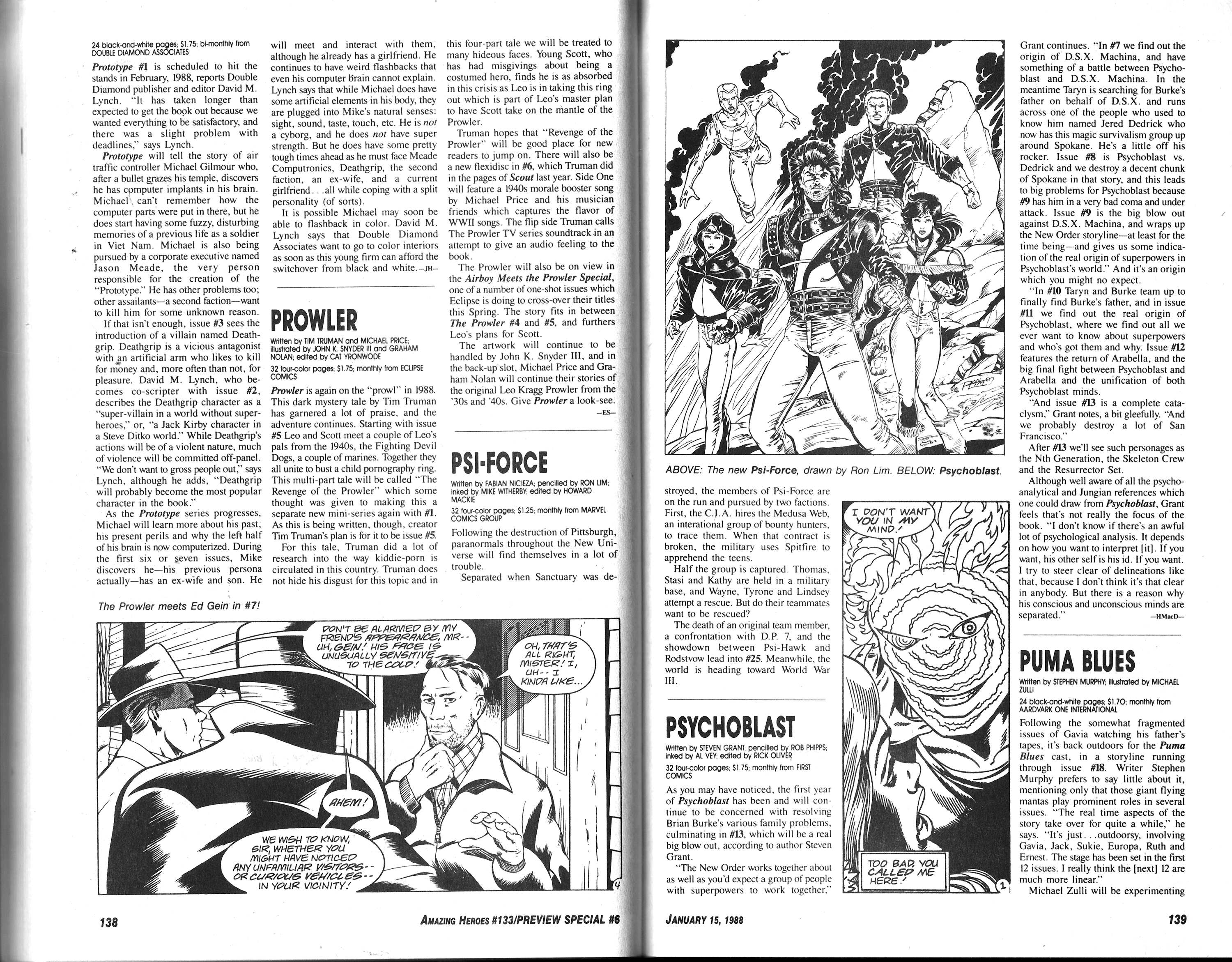 Read online Amazing Heroes comic -  Issue #133 - 71