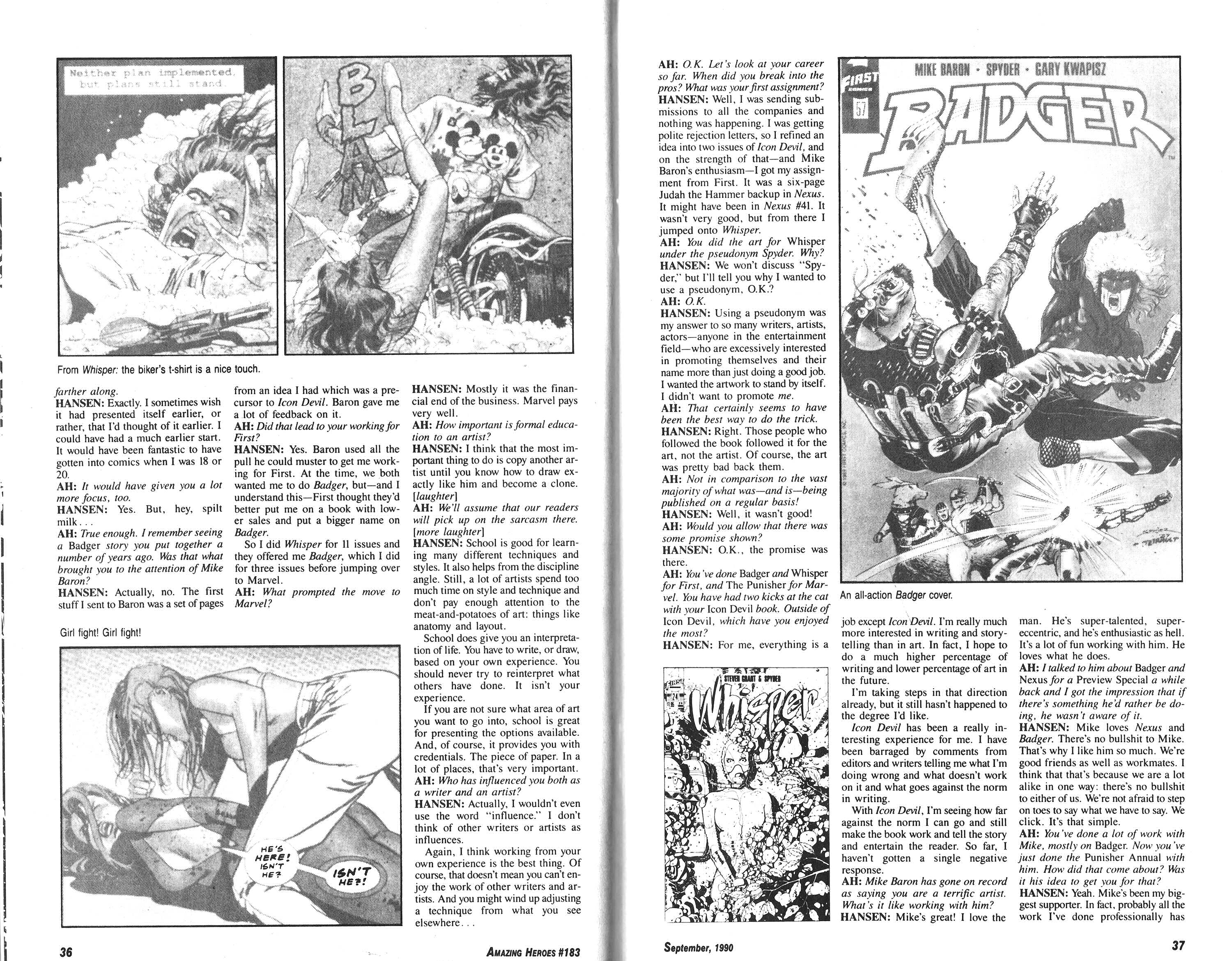 Read online Amazing Heroes comic -  Issue #183 - 19