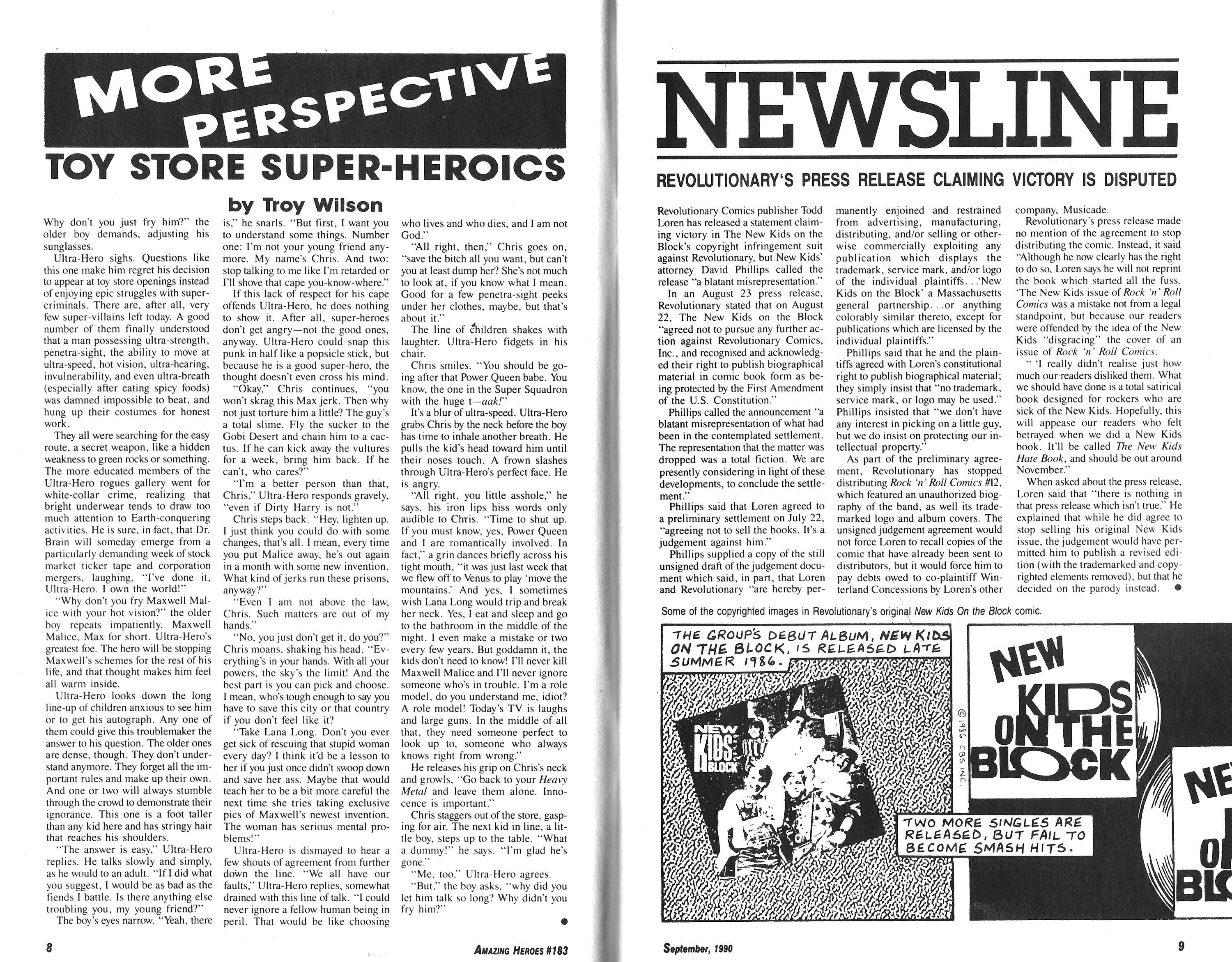 Read online Amazing Heroes comic -  Issue #183 - 5