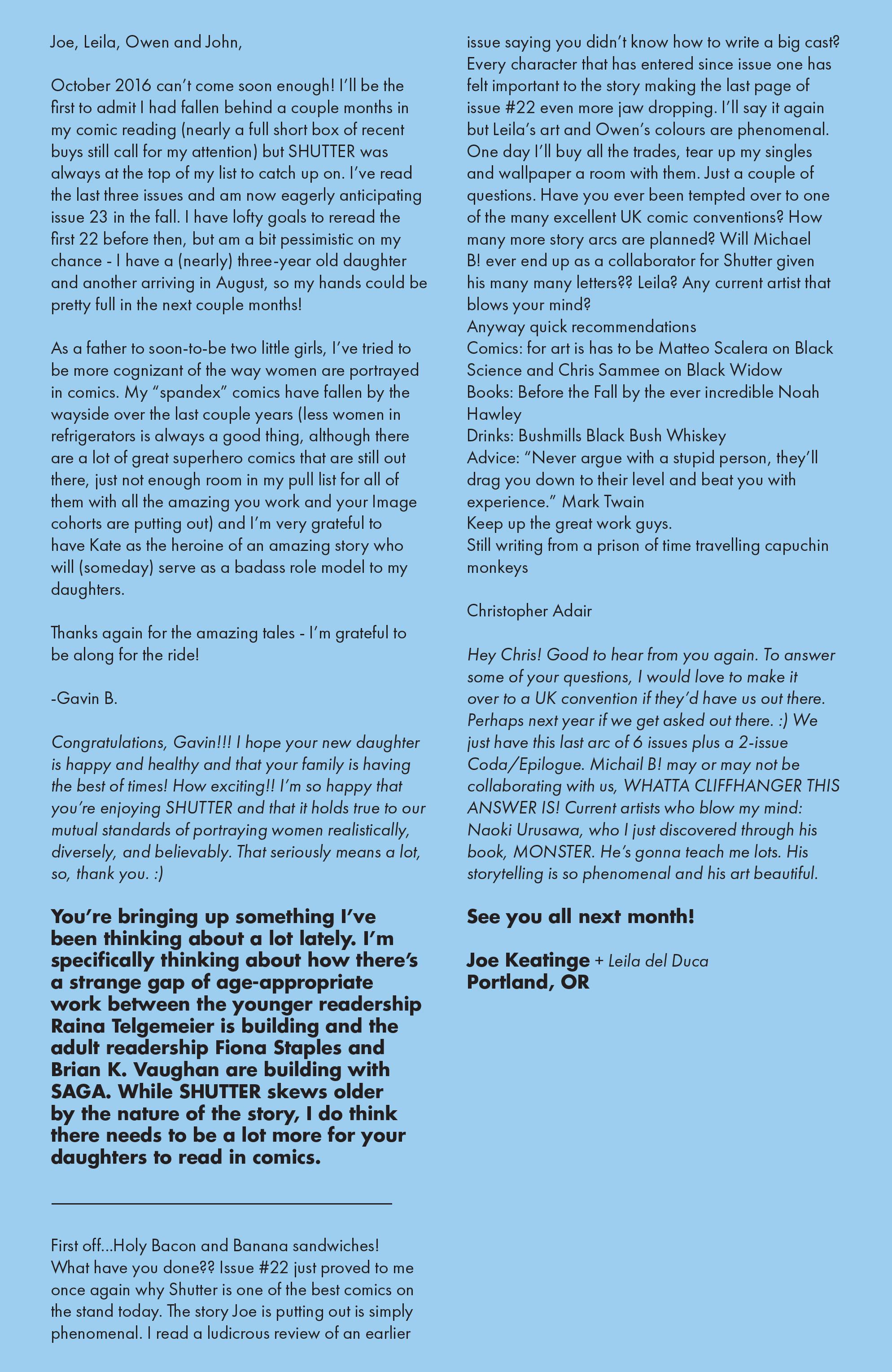 Read online Shutter comic -  Issue #23 - 28