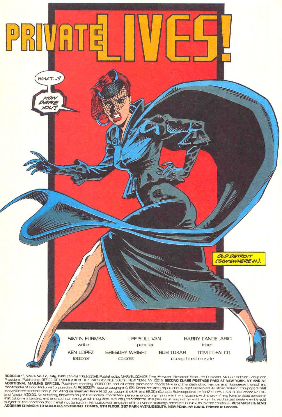 Read online Robocop (1990) comic -  Issue #17 - 2