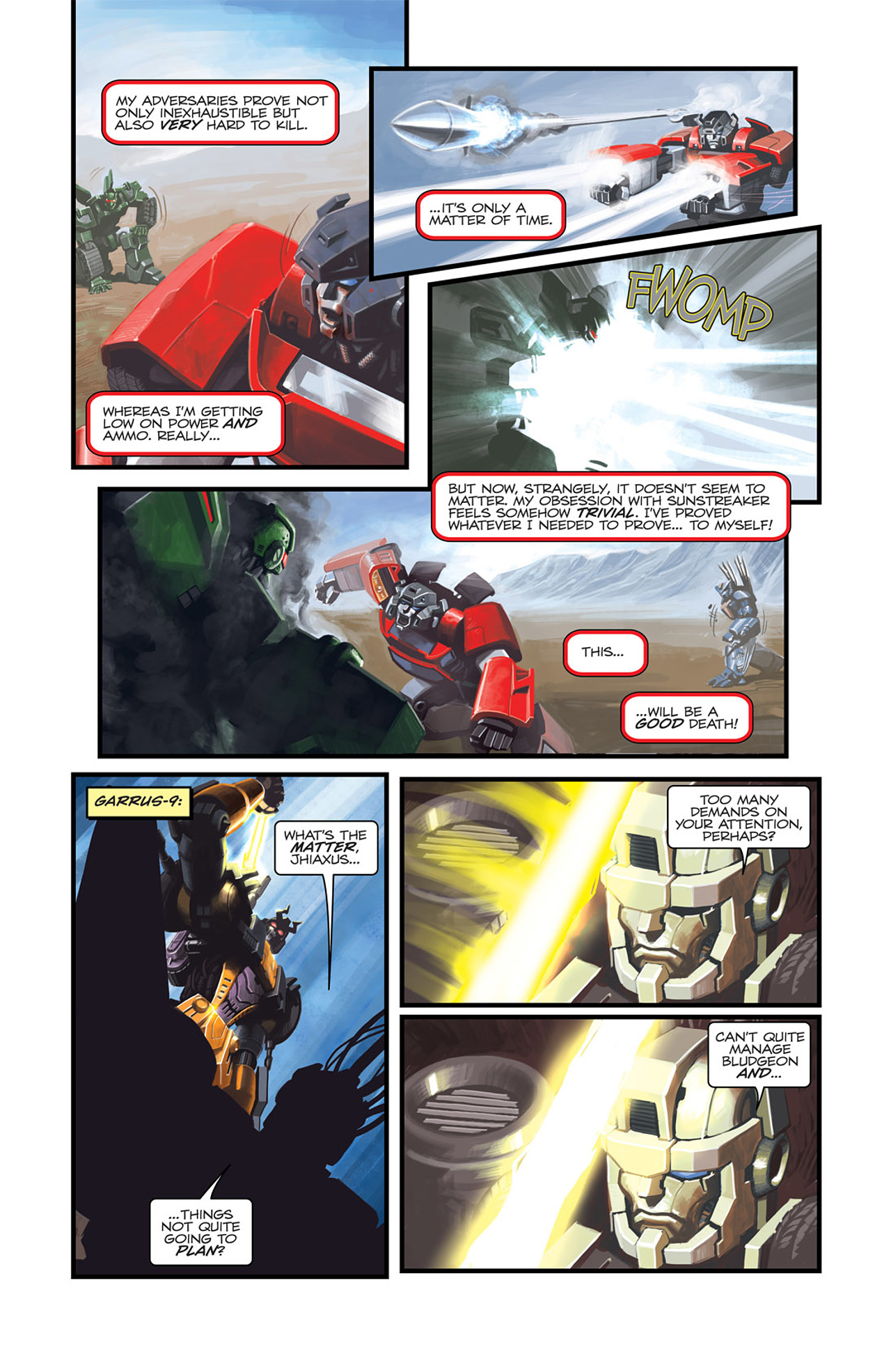 Read online Transformers Spotlight: Sideswipe comic -  Issue # Full - 16