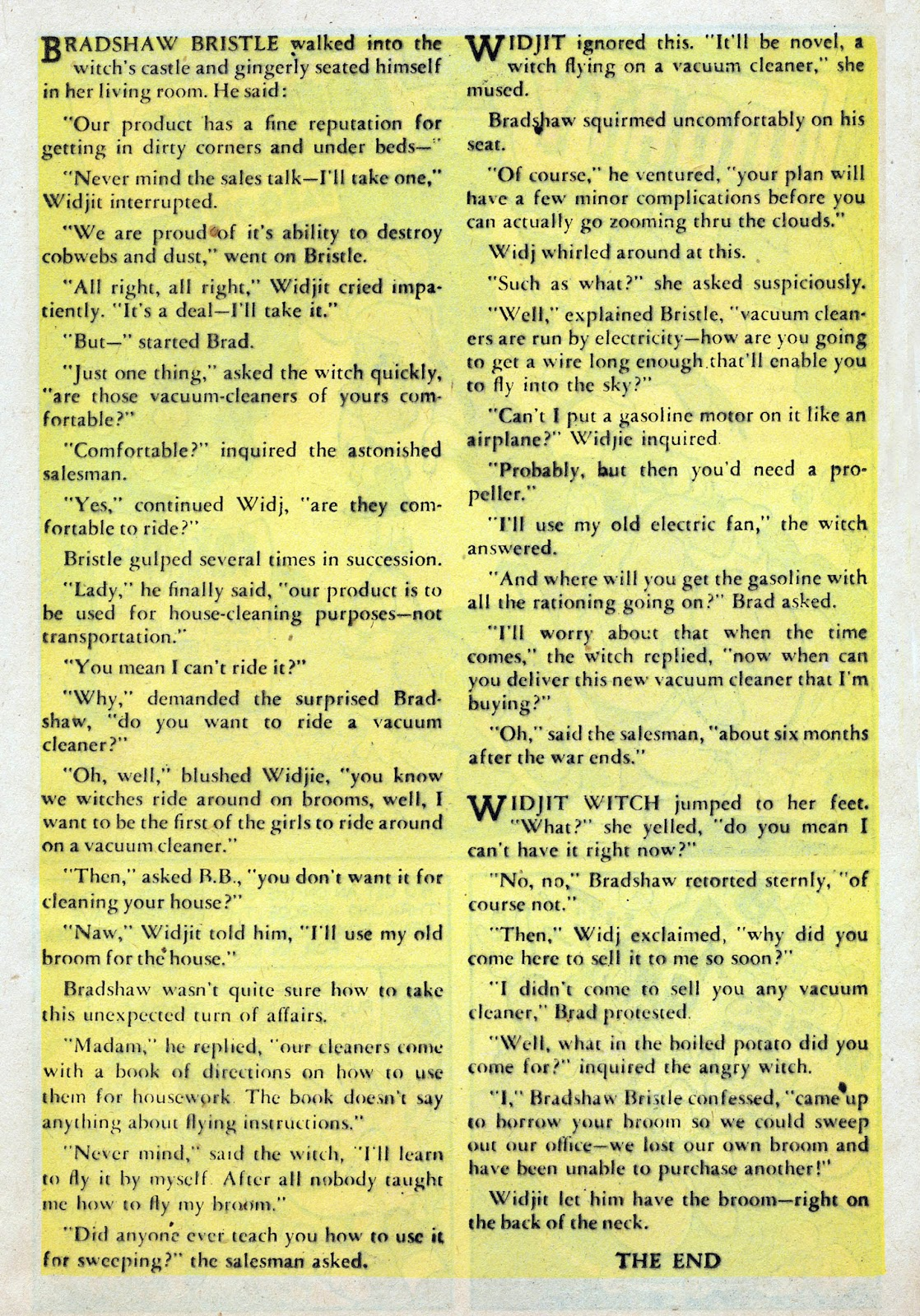 Read online Comedy Comics (1942) comic -  Issue #25 - 33