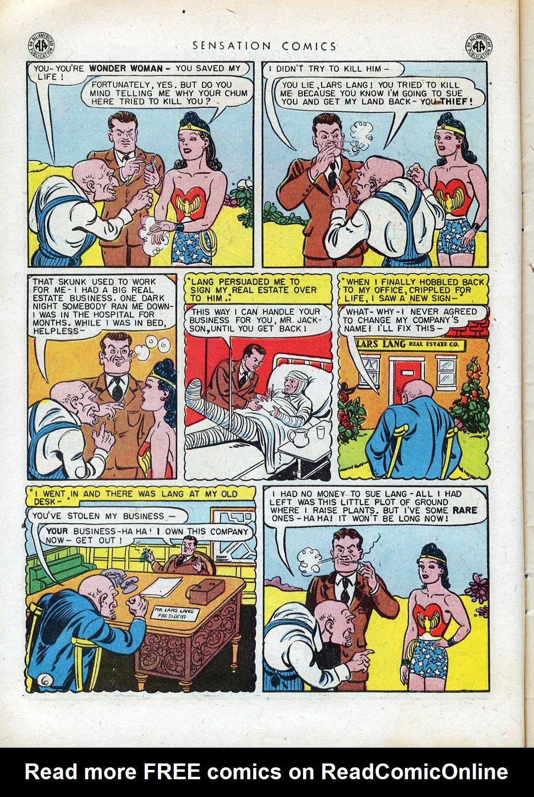 Read online Sensation (Mystery) Comics comic -  Issue #41 - 8